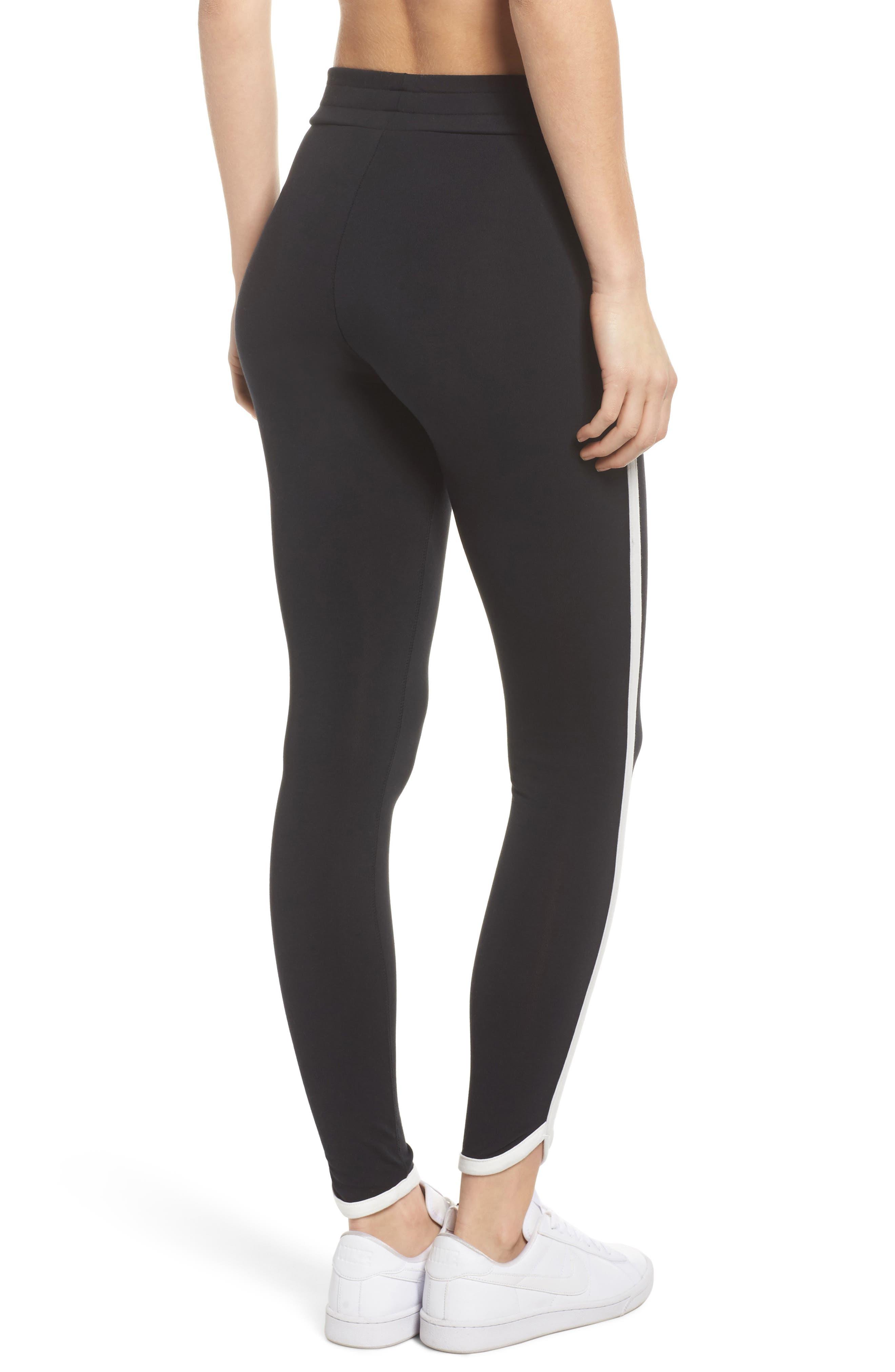 Sportswear Women's Leggings,                             Alternate thumbnail 2, color,                             Black/ Sail