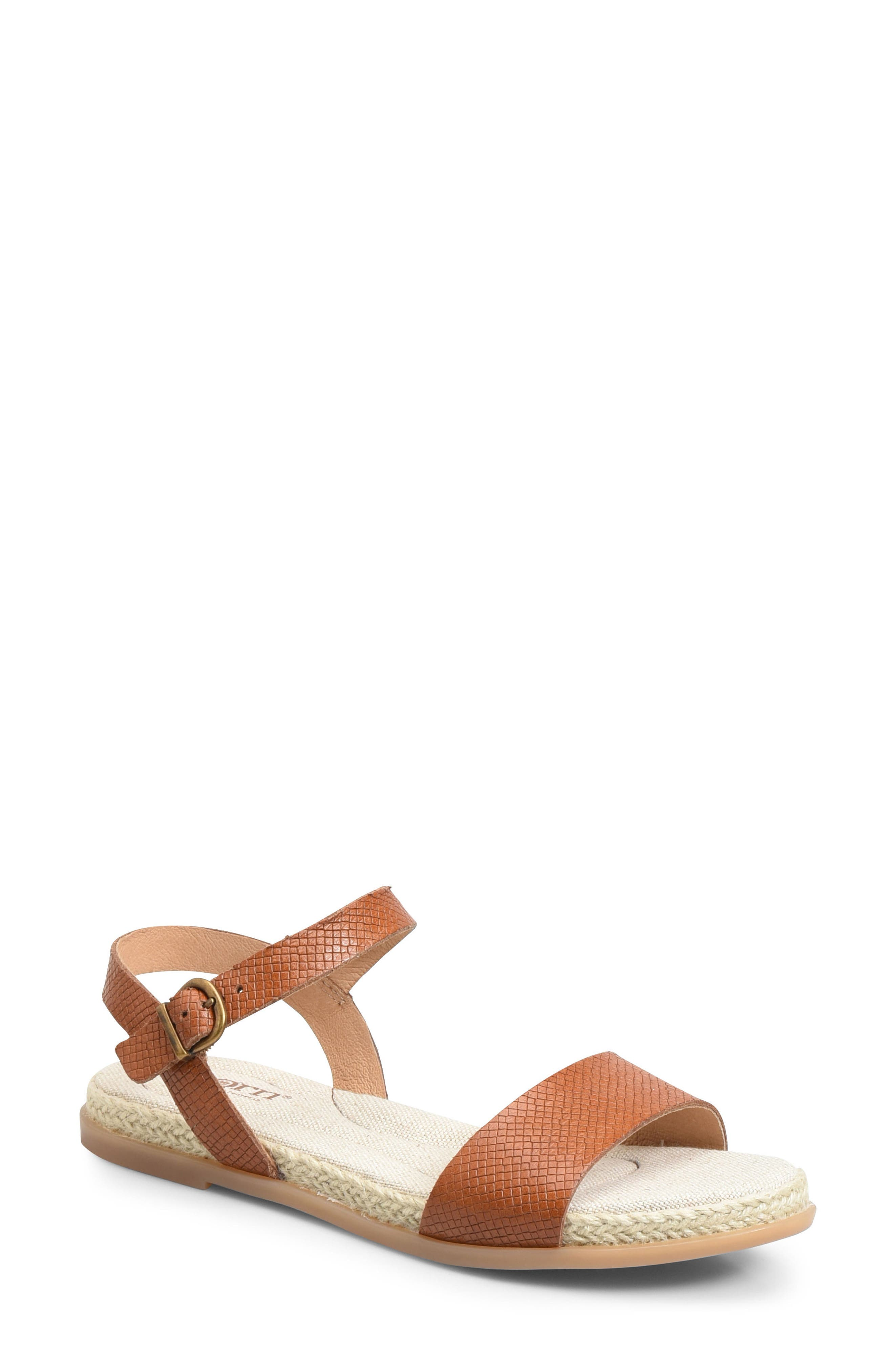 Welch Sandal,                             Main thumbnail 1, color,                             Brown Leather