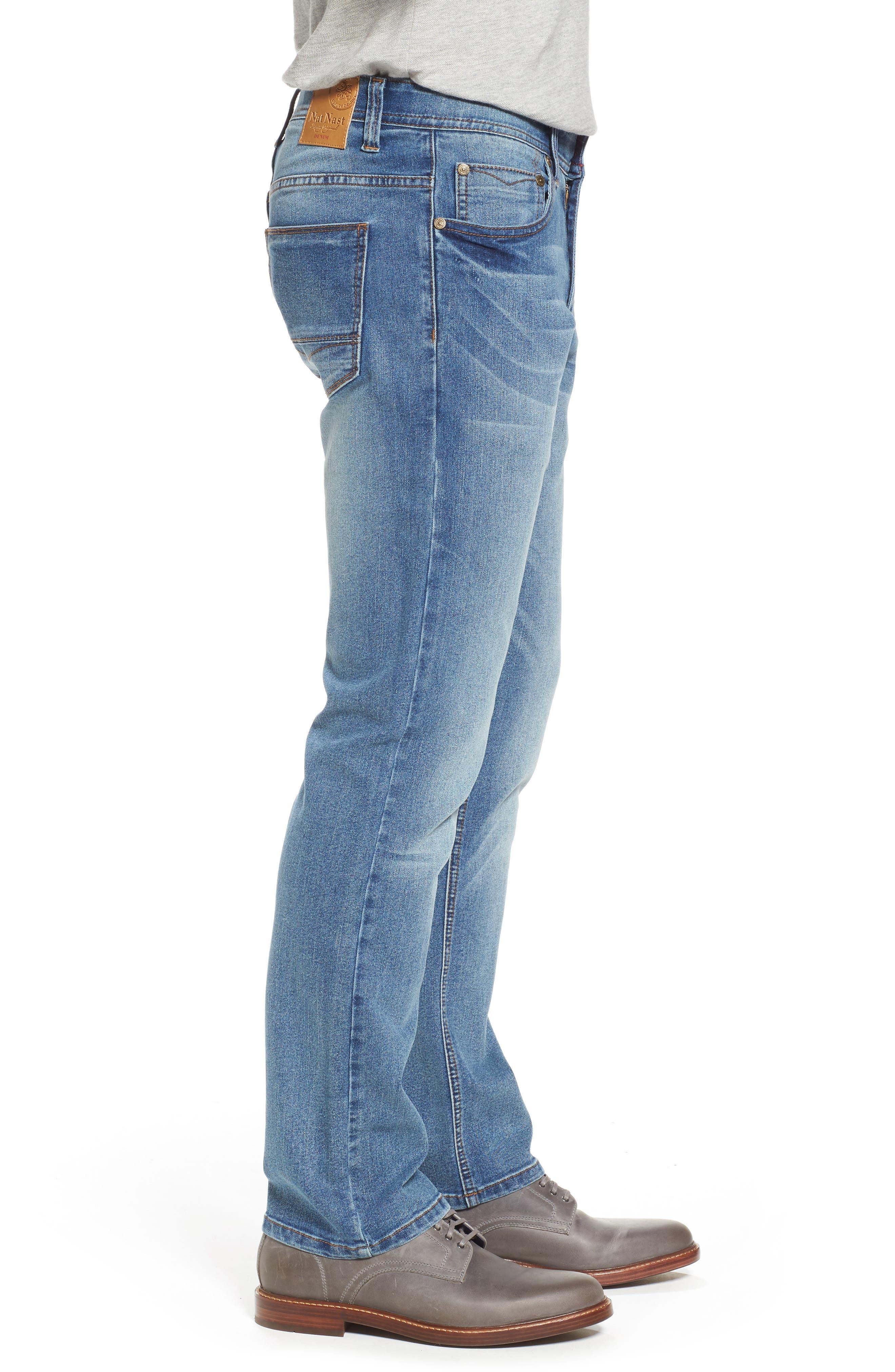 Maverick Stretch Slim Fit Jeans,                             Alternate thumbnail 3, color,                             Beach Wash