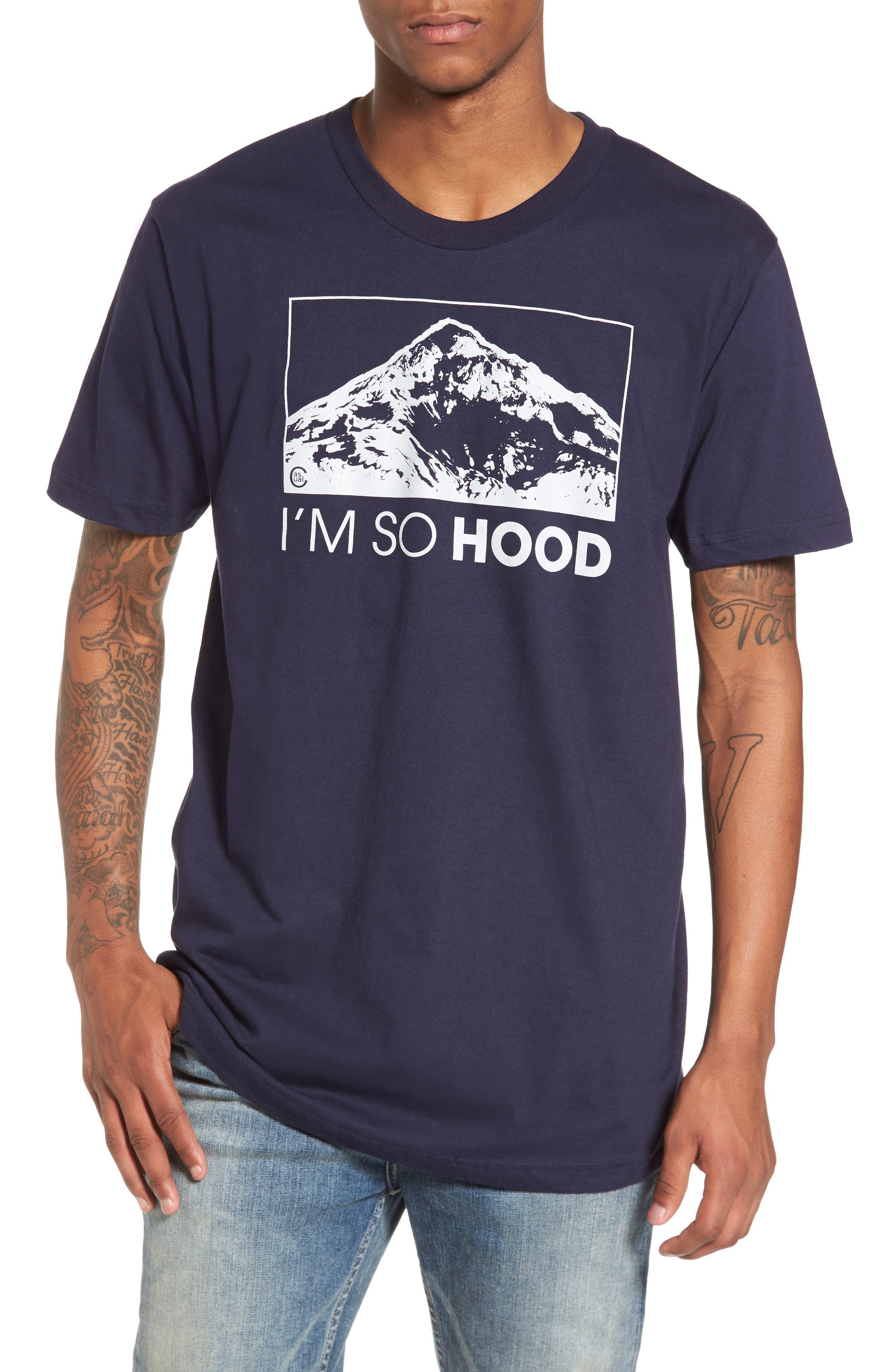 I'm So Hood T-Shirt,                             Main thumbnail 1, color,                             Navy Blue