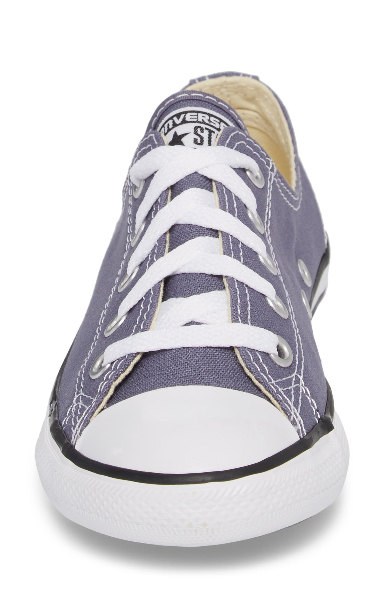 Chuck Taylor<sup>®</sup> All Star<sup>®</sup> Dainty Ox Low Top Sneaker,                             Alternate thumbnail 4, color,                             Light Carbon