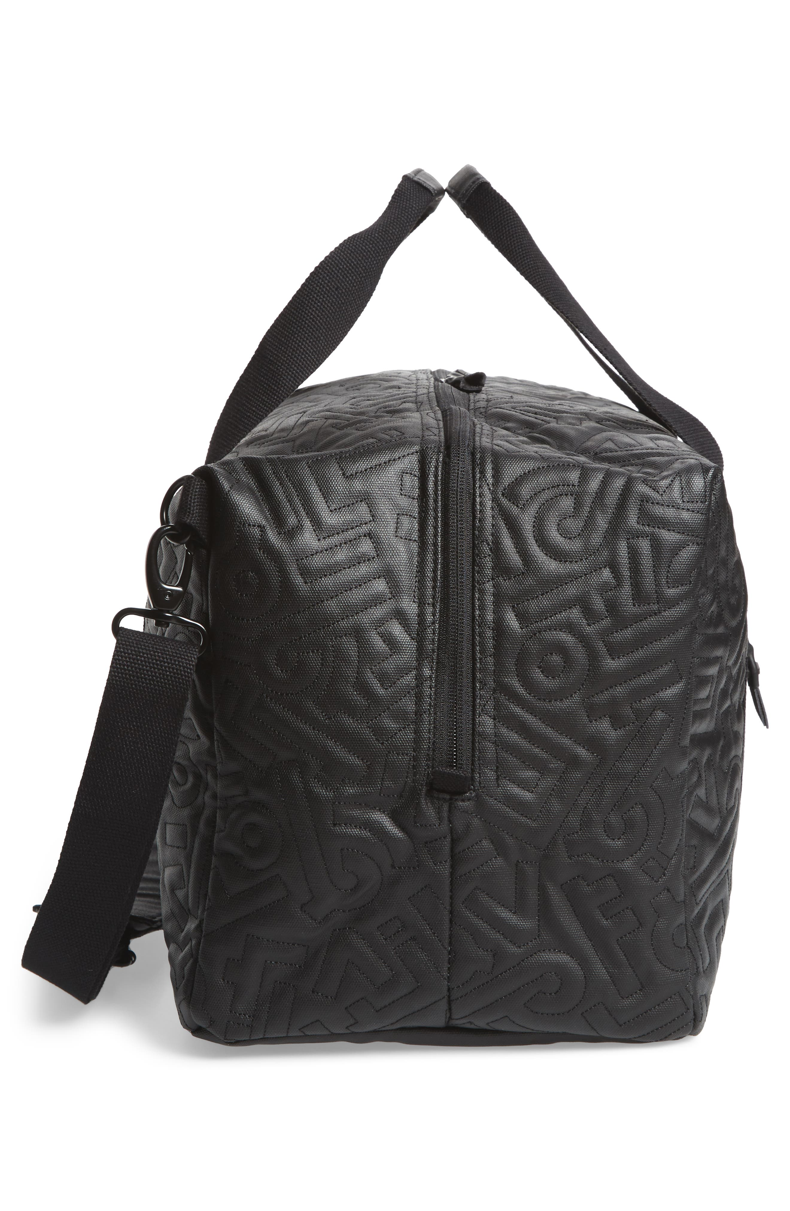 x Aaron De La Cruz Drifter Duffel Bag,                             Alternate thumbnail 5, color,                             Black Quilt