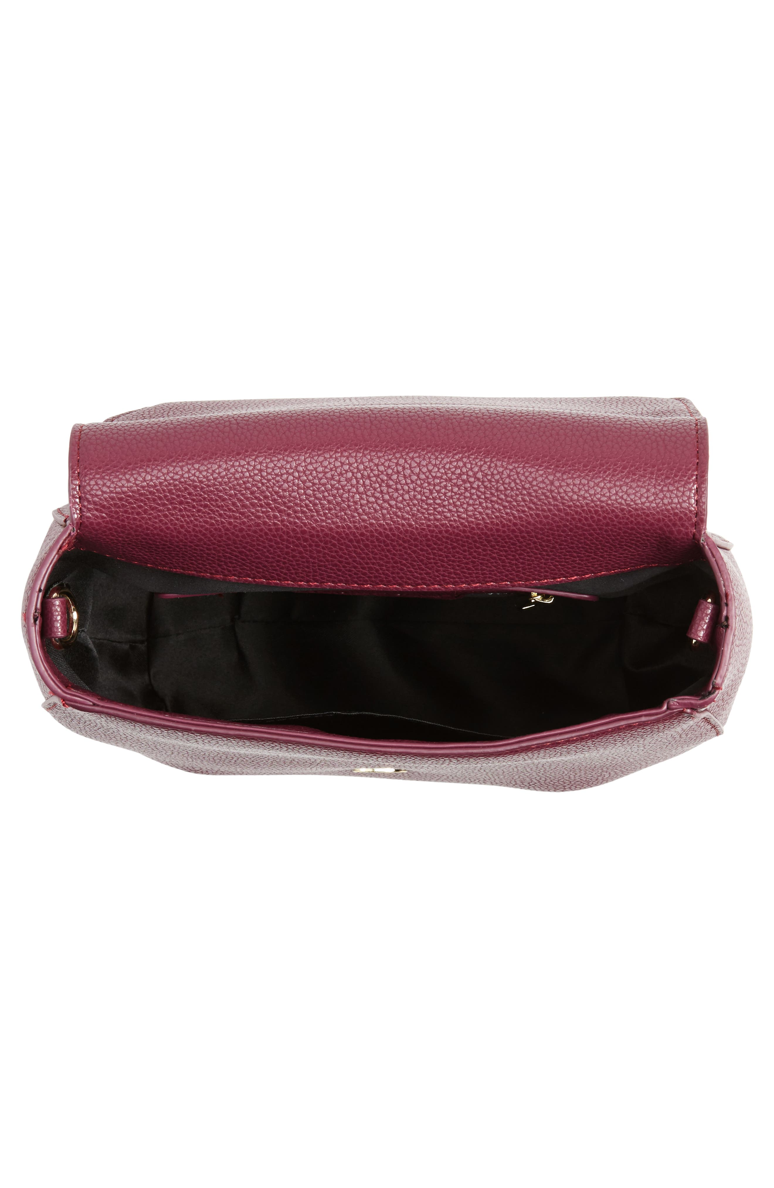 Isa Faux Leather Crossbody Bag,                             Alternate thumbnail 4, color,                             Berry Sweet/ Boysenberry