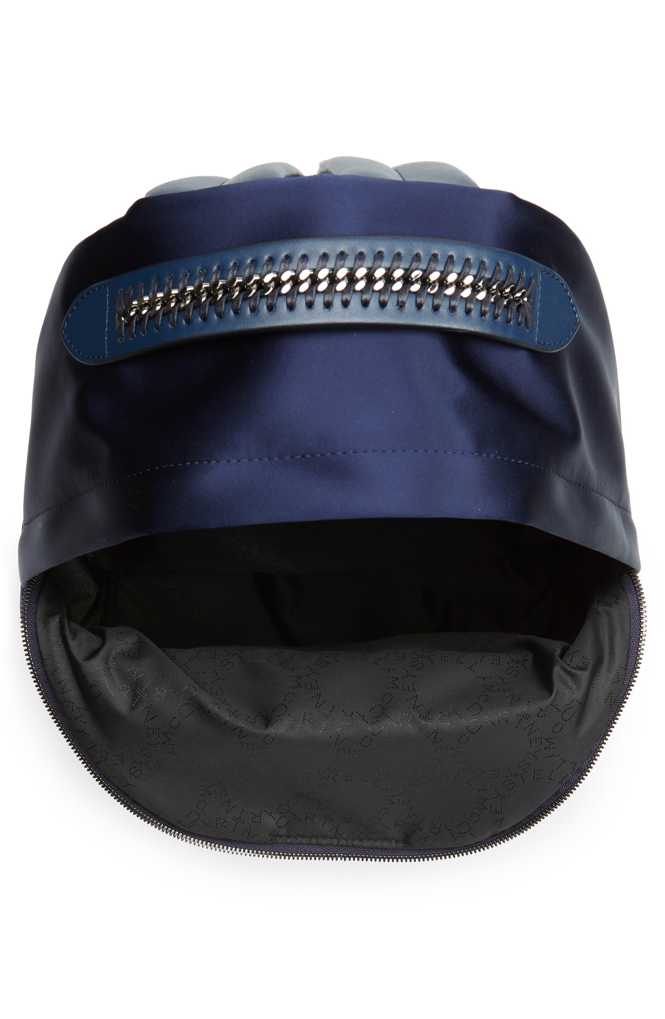 Alternate Image 4  - Stella McCartney Logo Embossed Satin Backpack
