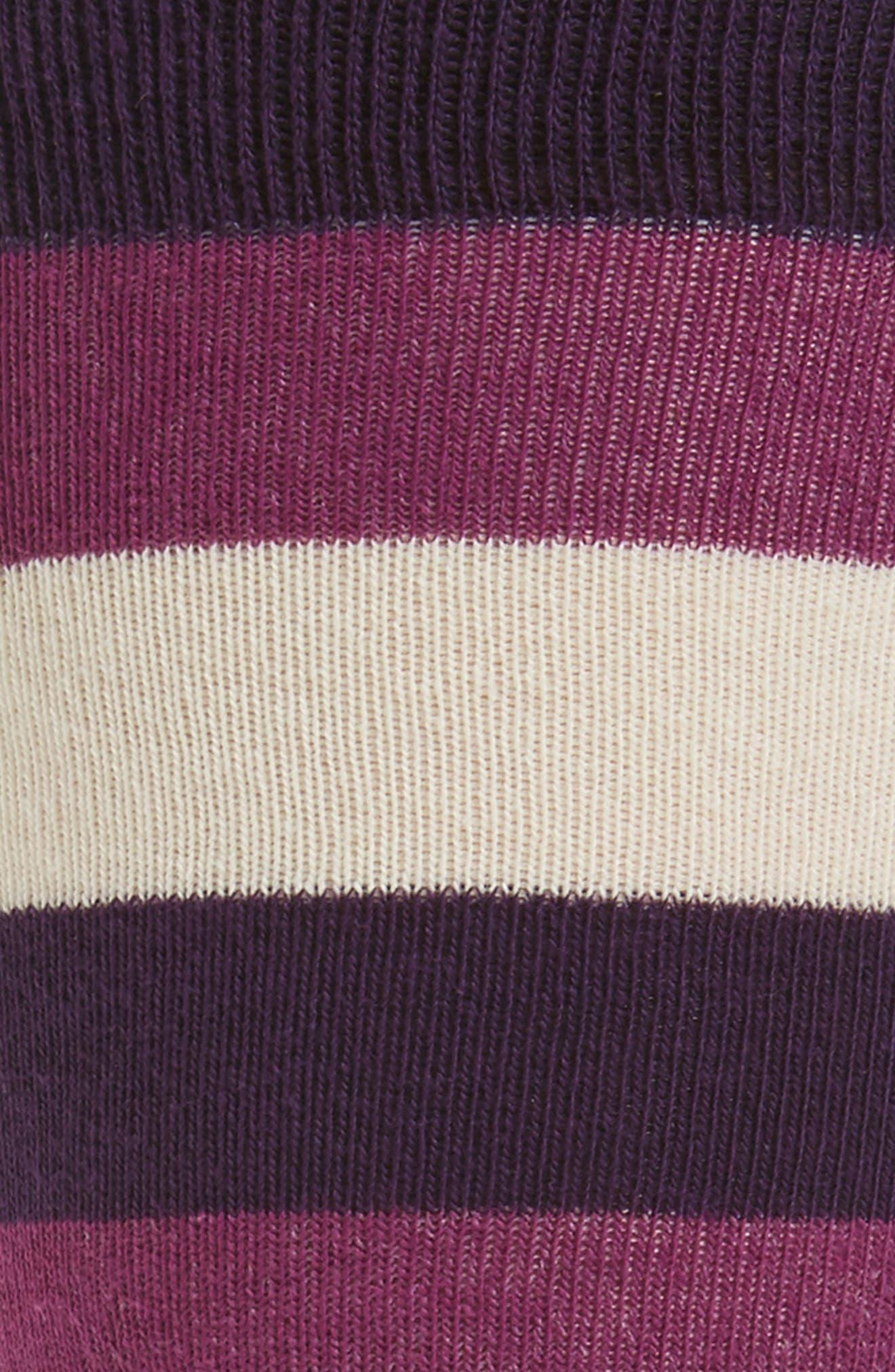 Striped Socks,                             Alternate thumbnail 2, color,                             Deep Purple