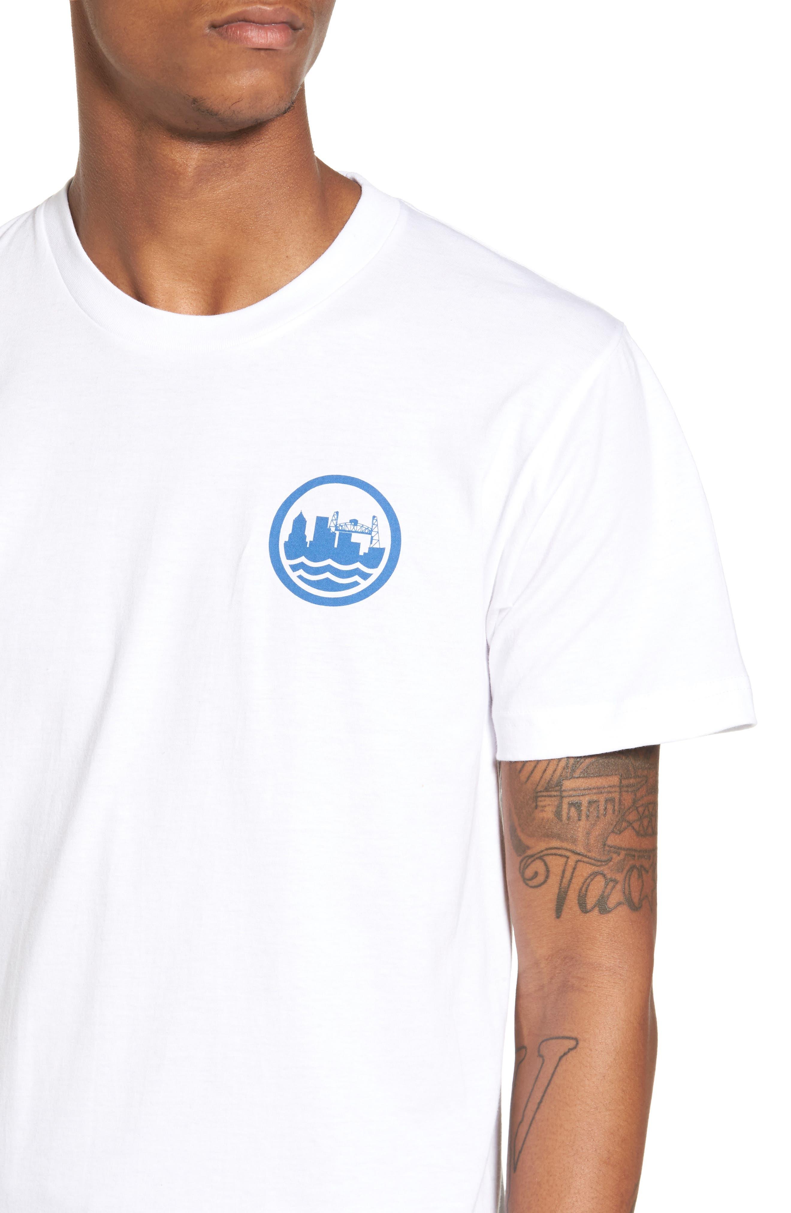 PDX T-Shirt,                             Alternate thumbnail 4, color,                             White