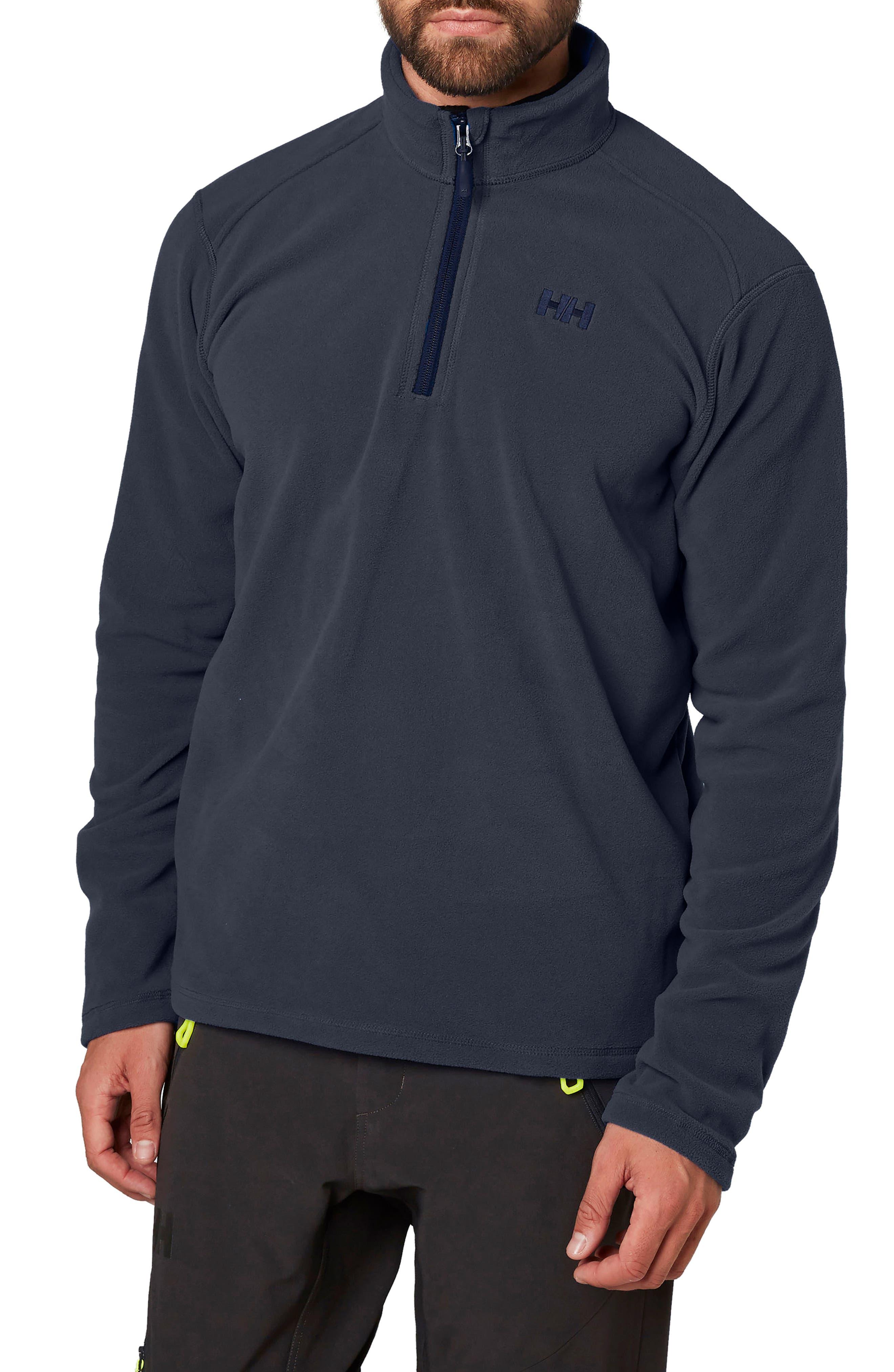 HellyHansen 'Daybreaker' Half Zip Fleece Jacket,                         Main,                         color, 994 Graphite Blue