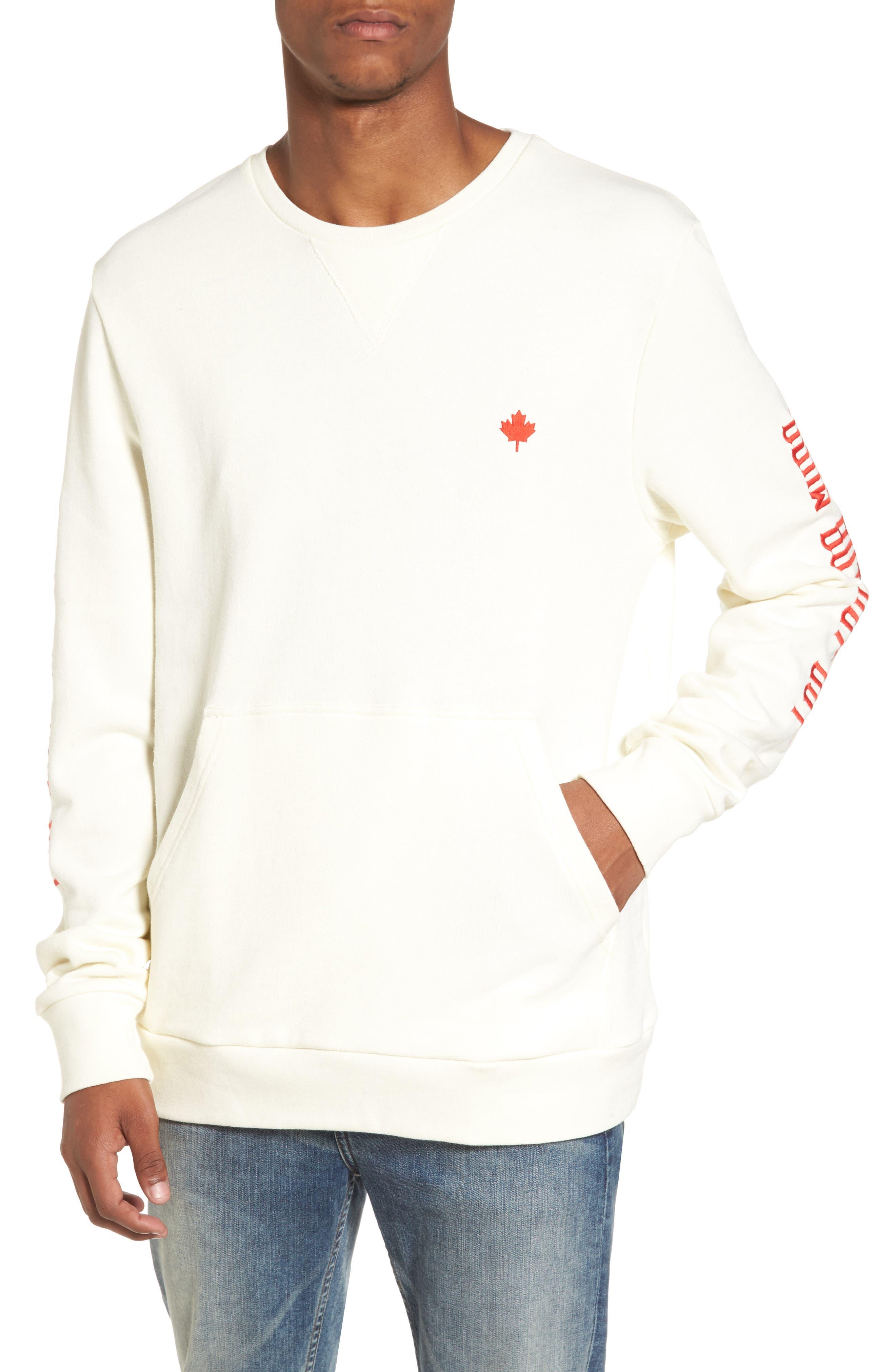 Up North Fleece Sweatshirt,                         Main,                         color, Bone