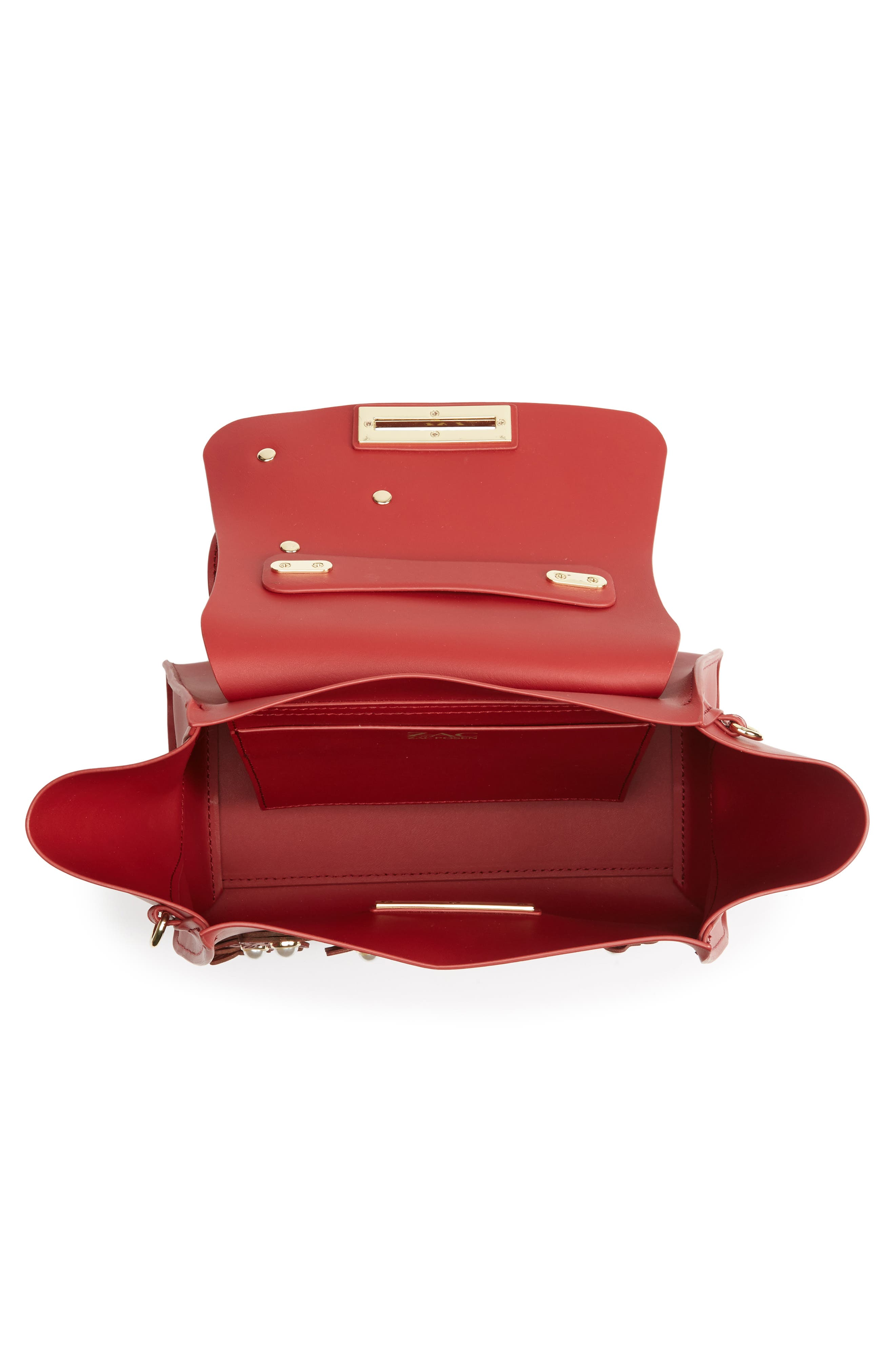 Eartha Iconic Convertible Leather Backpack,                             Alternate thumbnail 4, color,                             Red