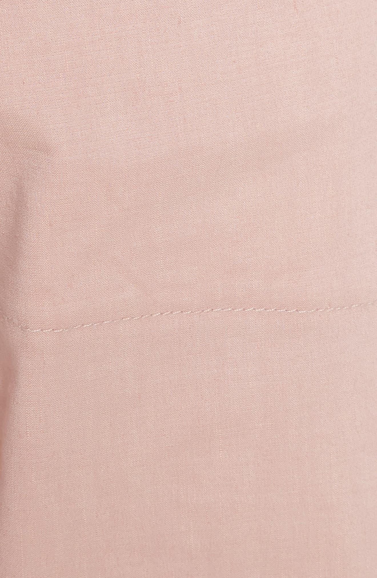 Fluid Wide Leg Crop Pants,                             Alternate thumbnail 5, color,                             Pink Ballet