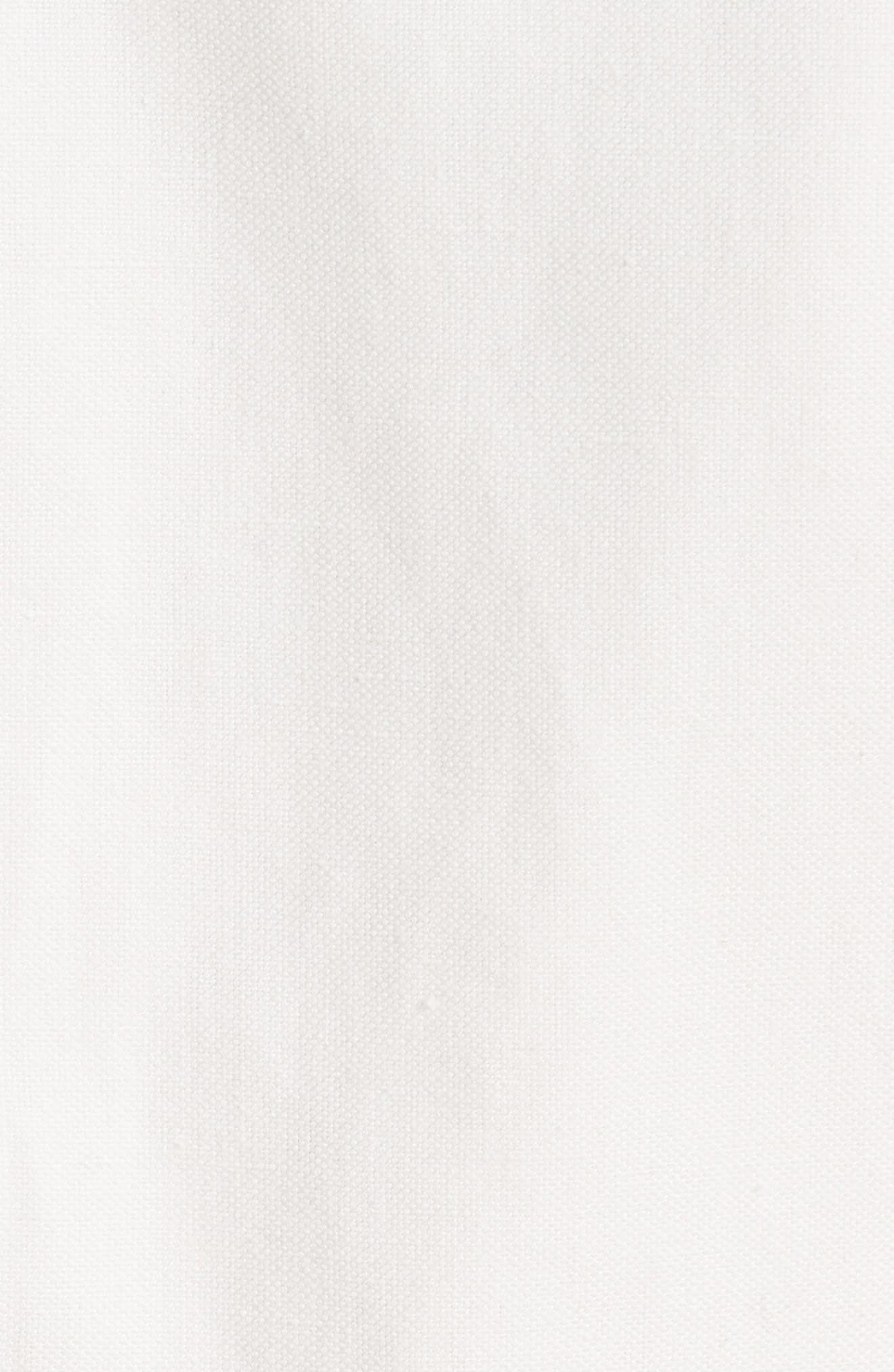 Linen & Cotton Shirtdress,                             Alternate thumbnail 6, color,                             Ivory