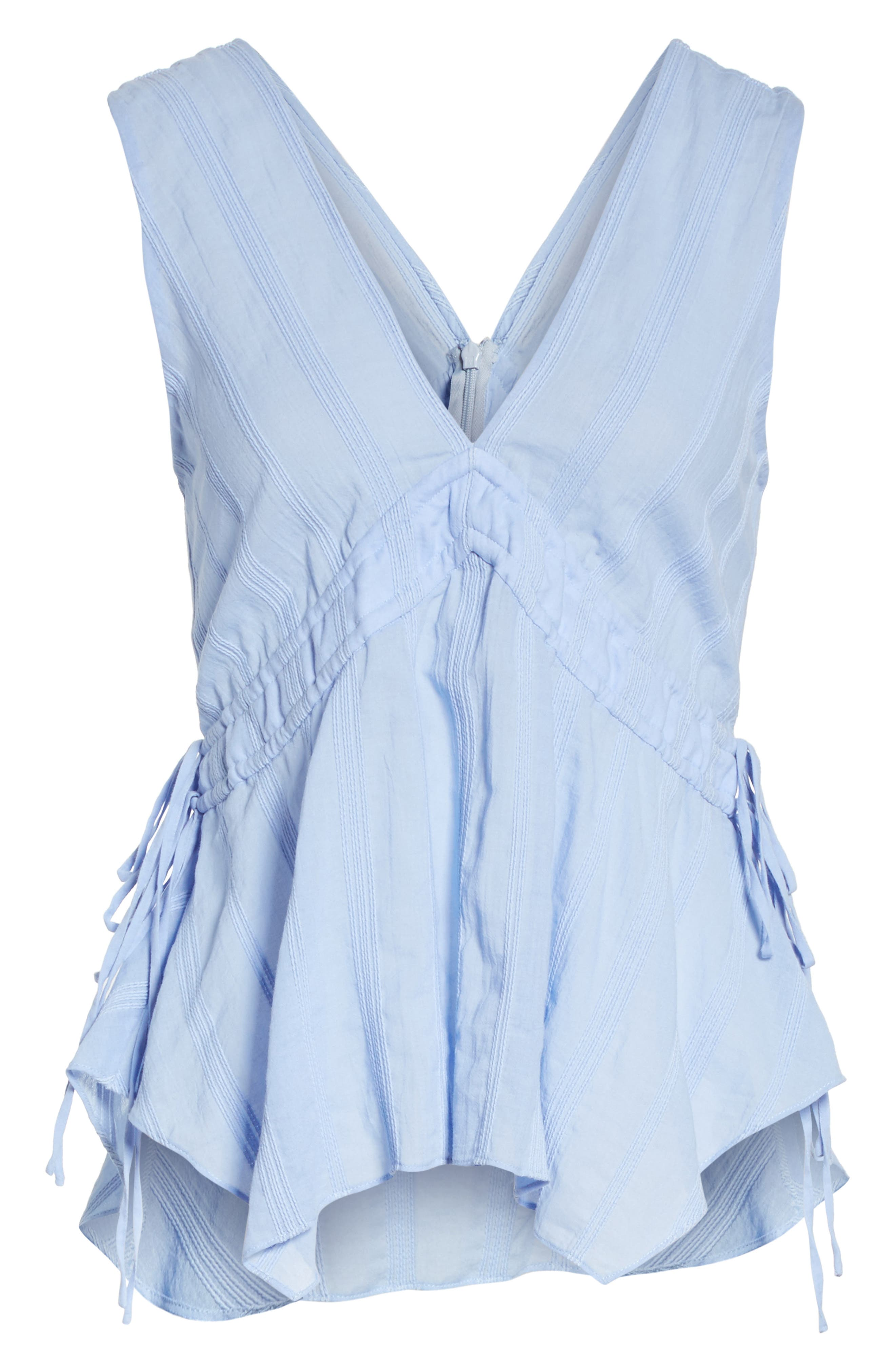 Side Tie Top,                             Alternate thumbnail 6, color,                             French Blue