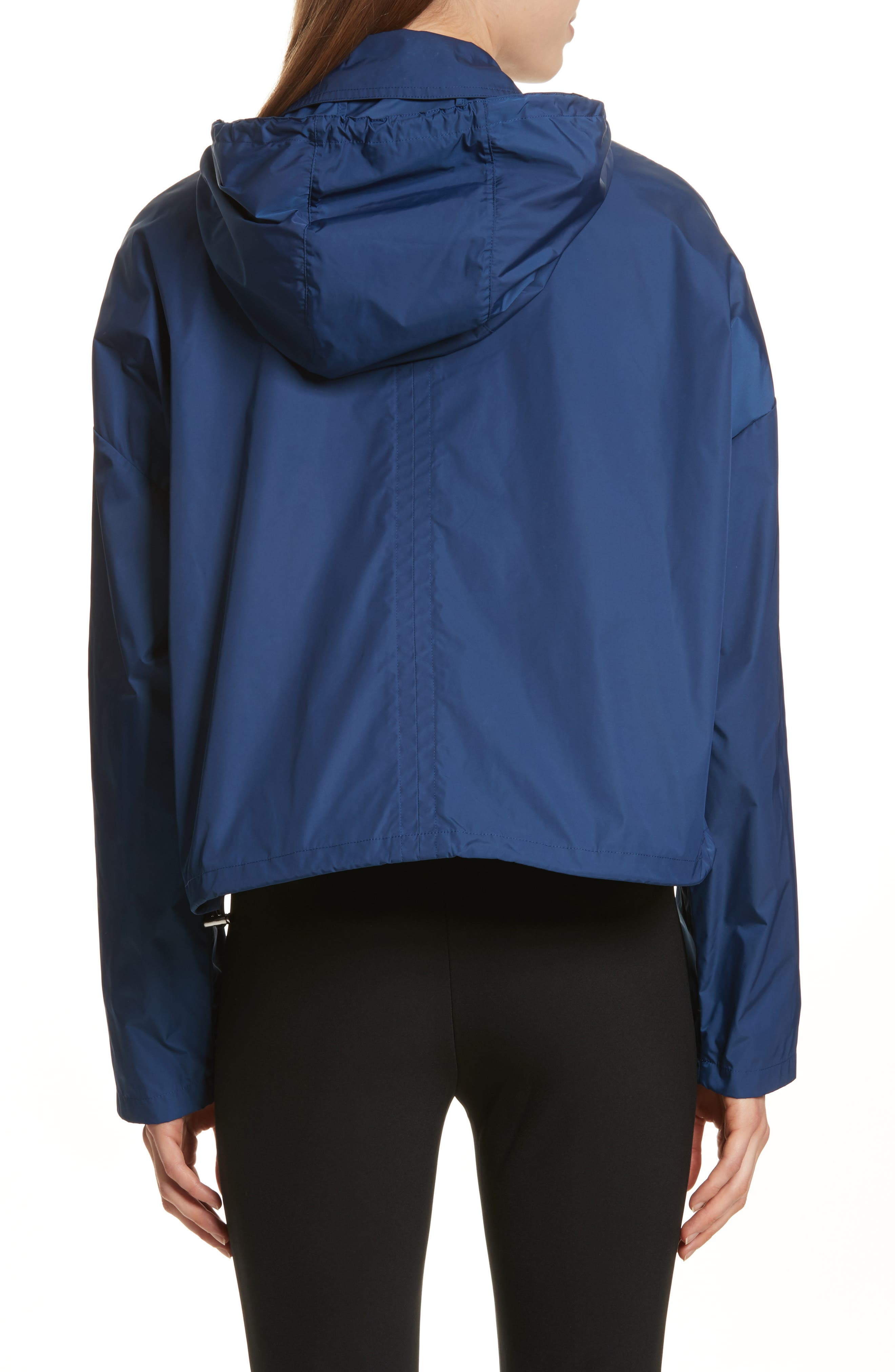 Active Twill Crop Hooded Jacket,                             Alternate thumbnail 2, color,                             Liberty Blue