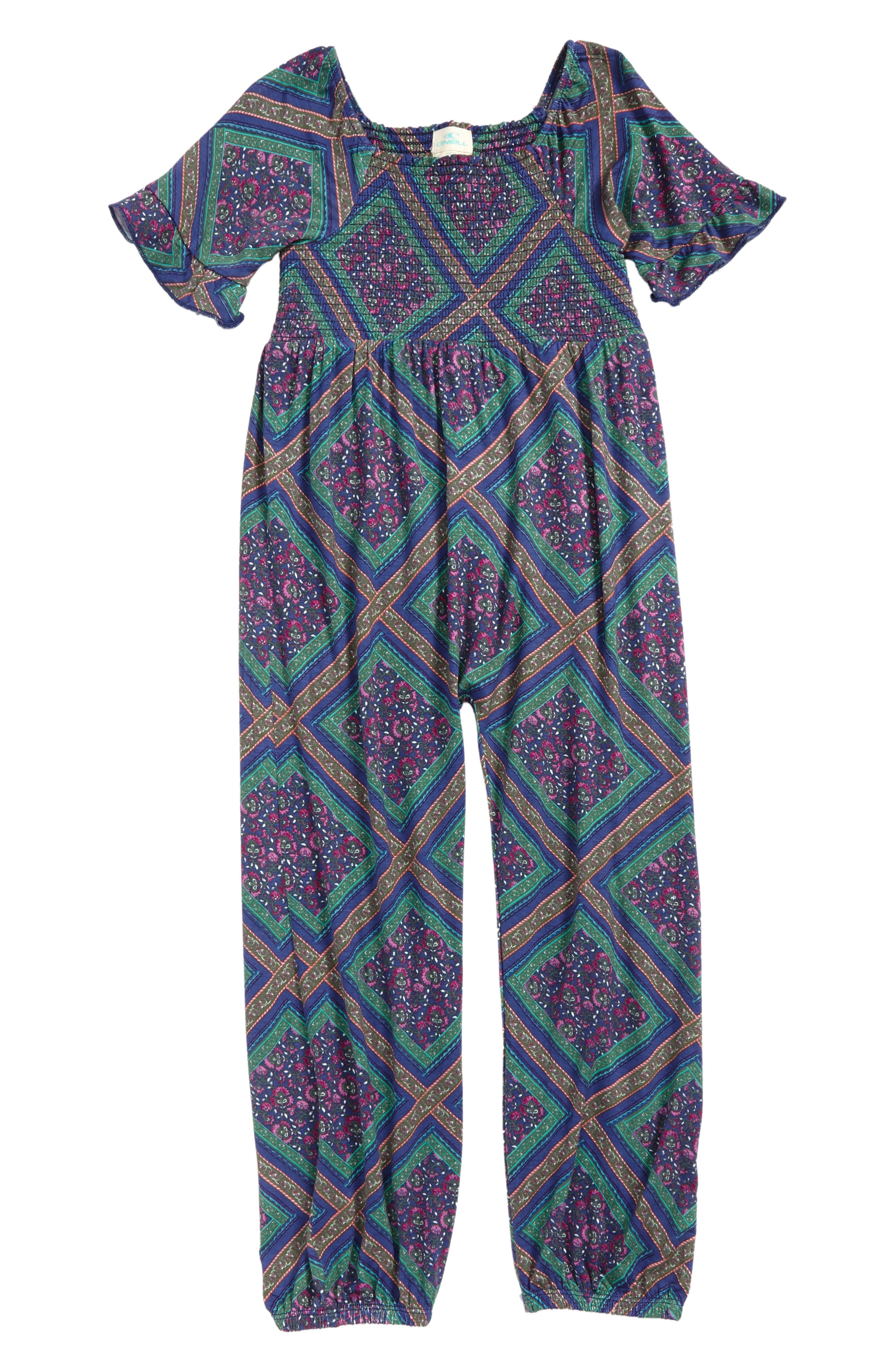 Alternate Image 1 Selected - O'Neill Kelly Knit Jumpsuit (Toddler Girls & Little Girls)