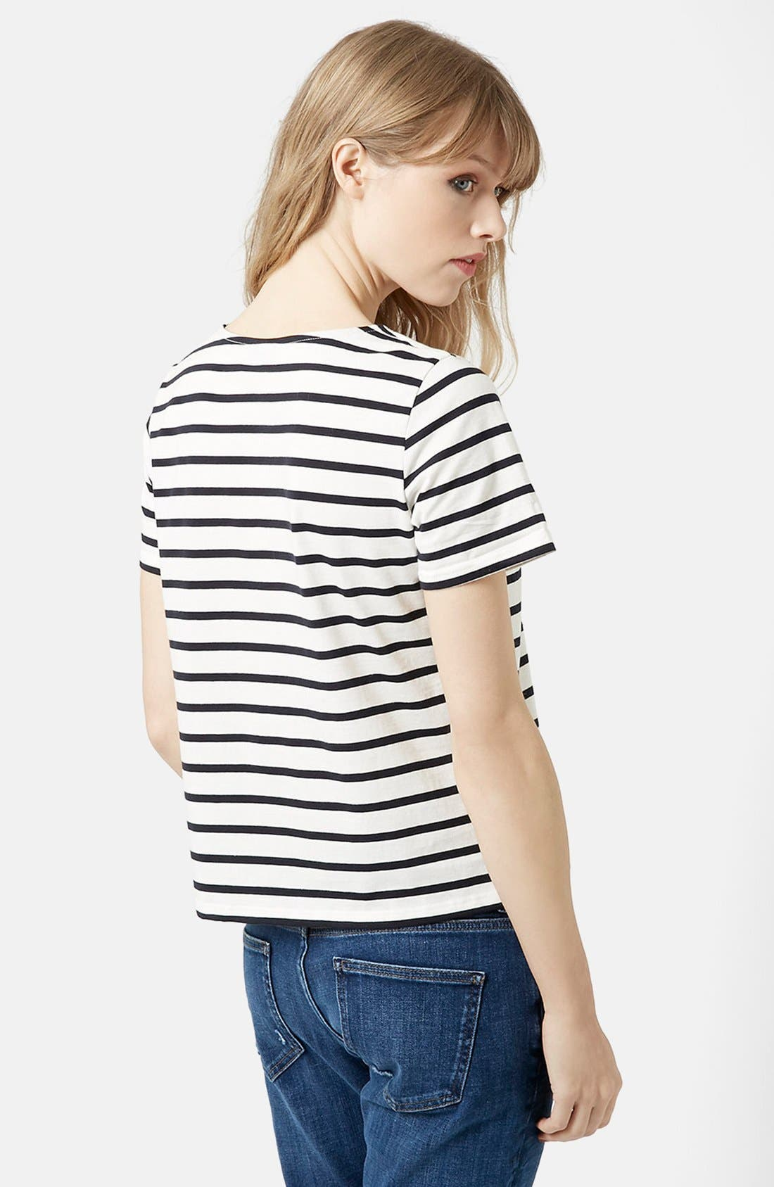 Alternate Image 2  - Topshop Lace-Up Nautical Top