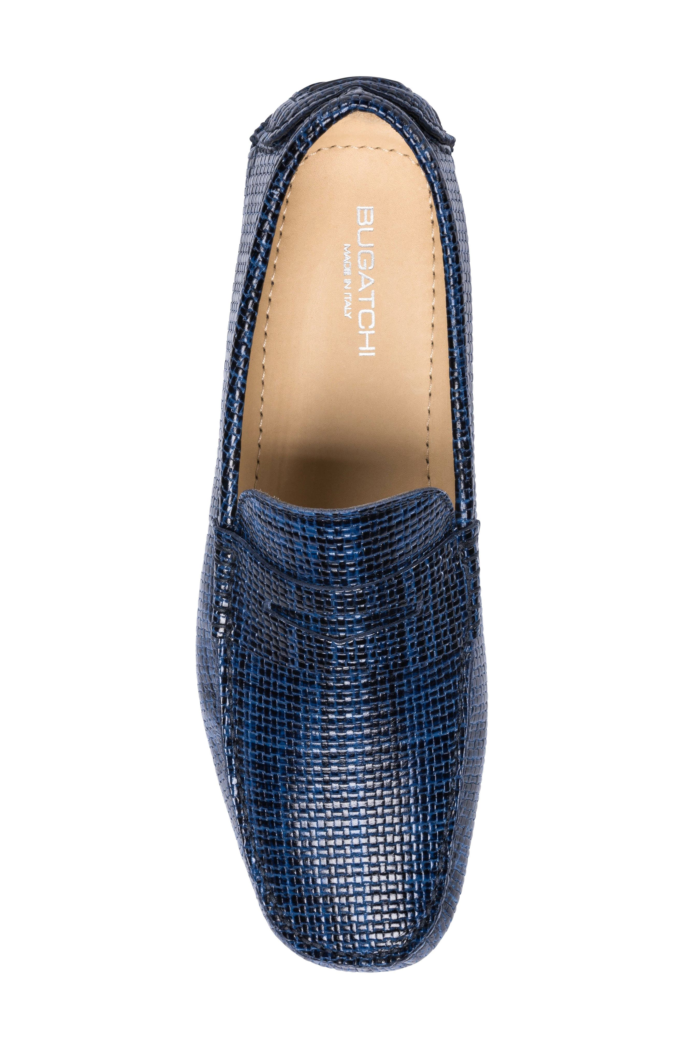 Montalcino Driving Penny Loafer,                             Alternate thumbnail 5, color,                             Blue Leather