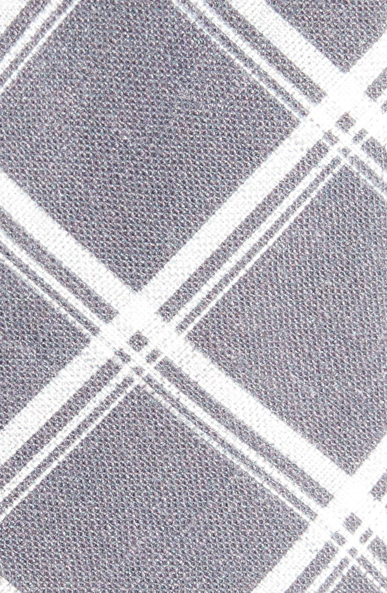 Alternate Image 2  - The Tie Bar Jet Plaid Linen Skinny Tie