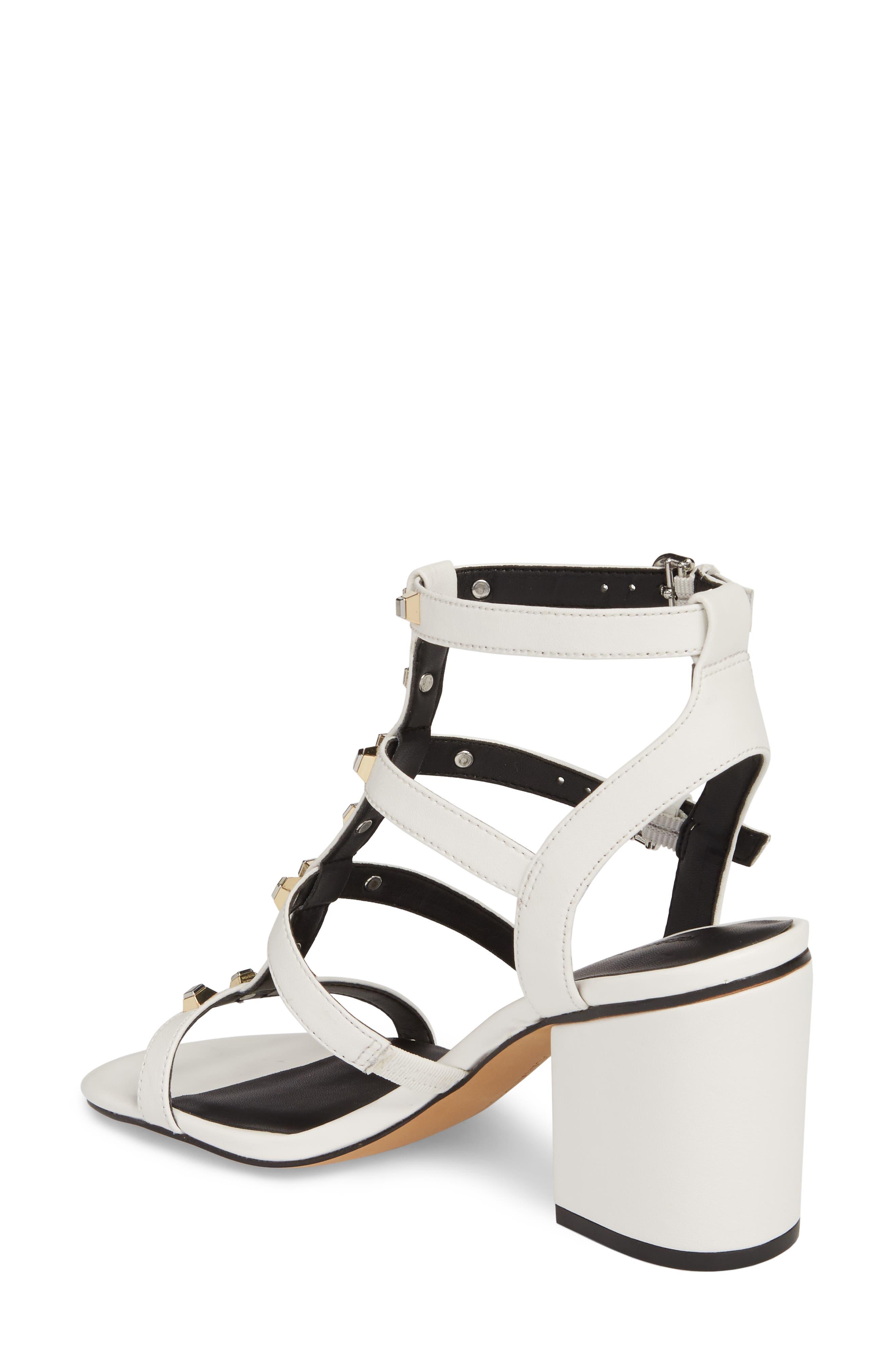Lenore Sandal,                             Alternate thumbnail 2, color,                             Optic White Leather