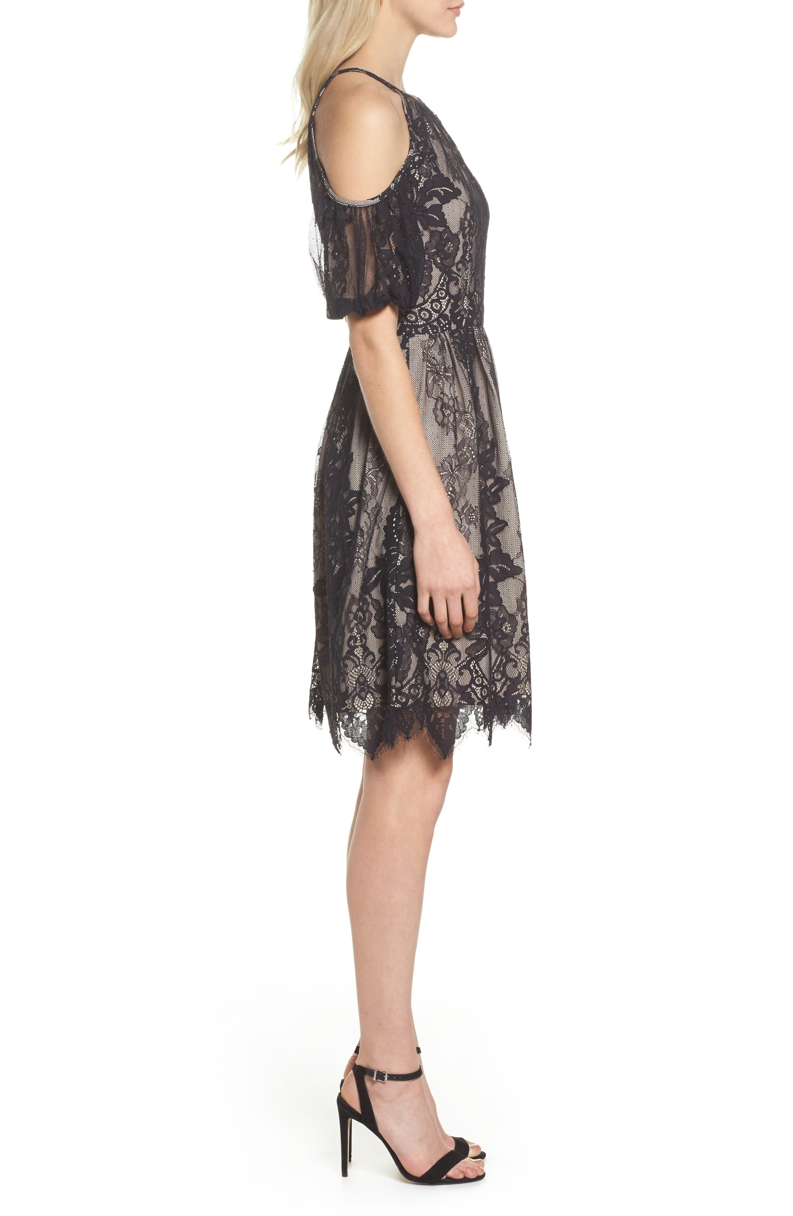 Alternate Image 3  - Maggy London Cold Shoulder Lace Dress