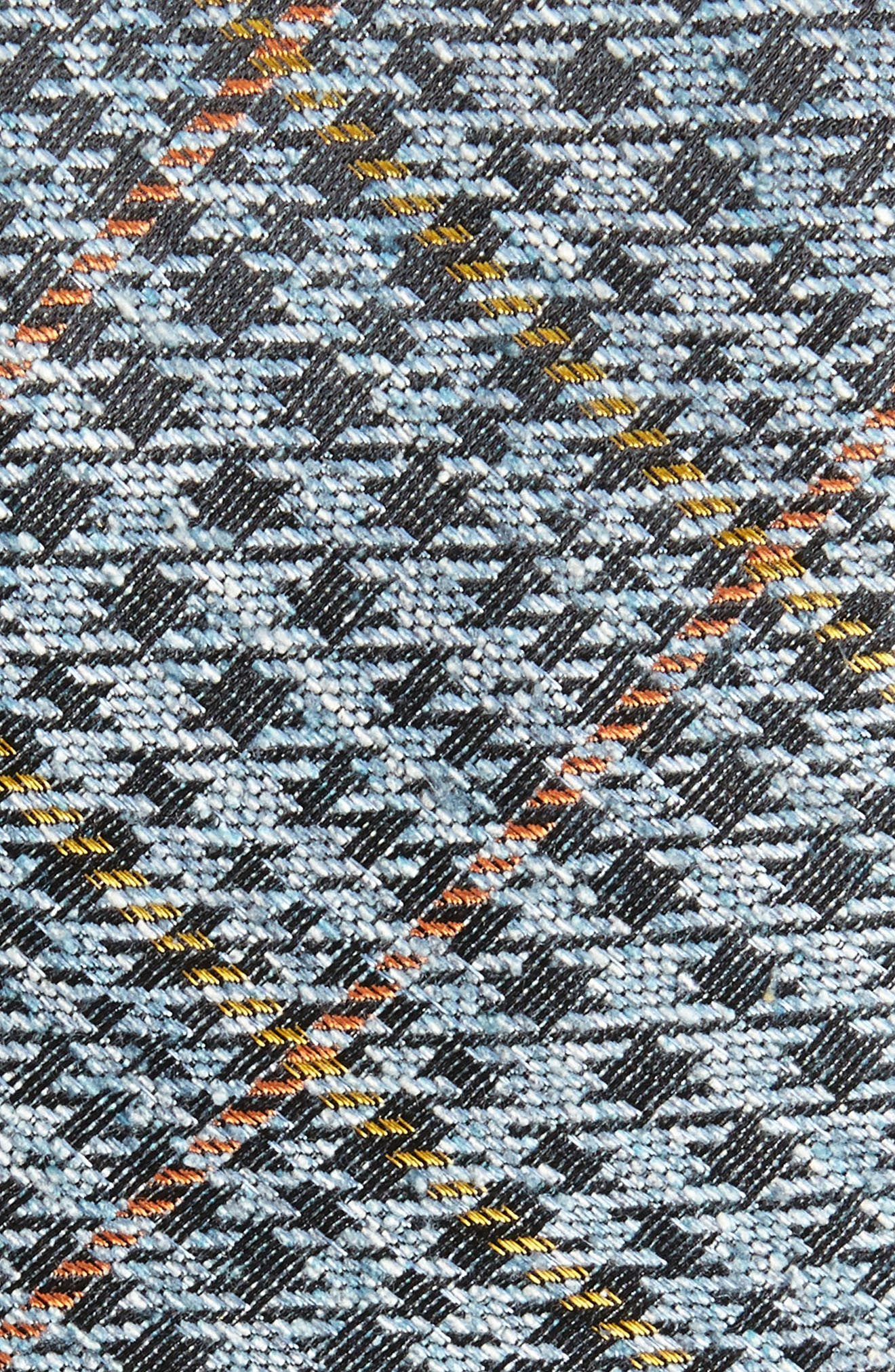 Quinn Plaid Silk Skinny Tie,                             Alternate thumbnail 2, color,                             Light Blue