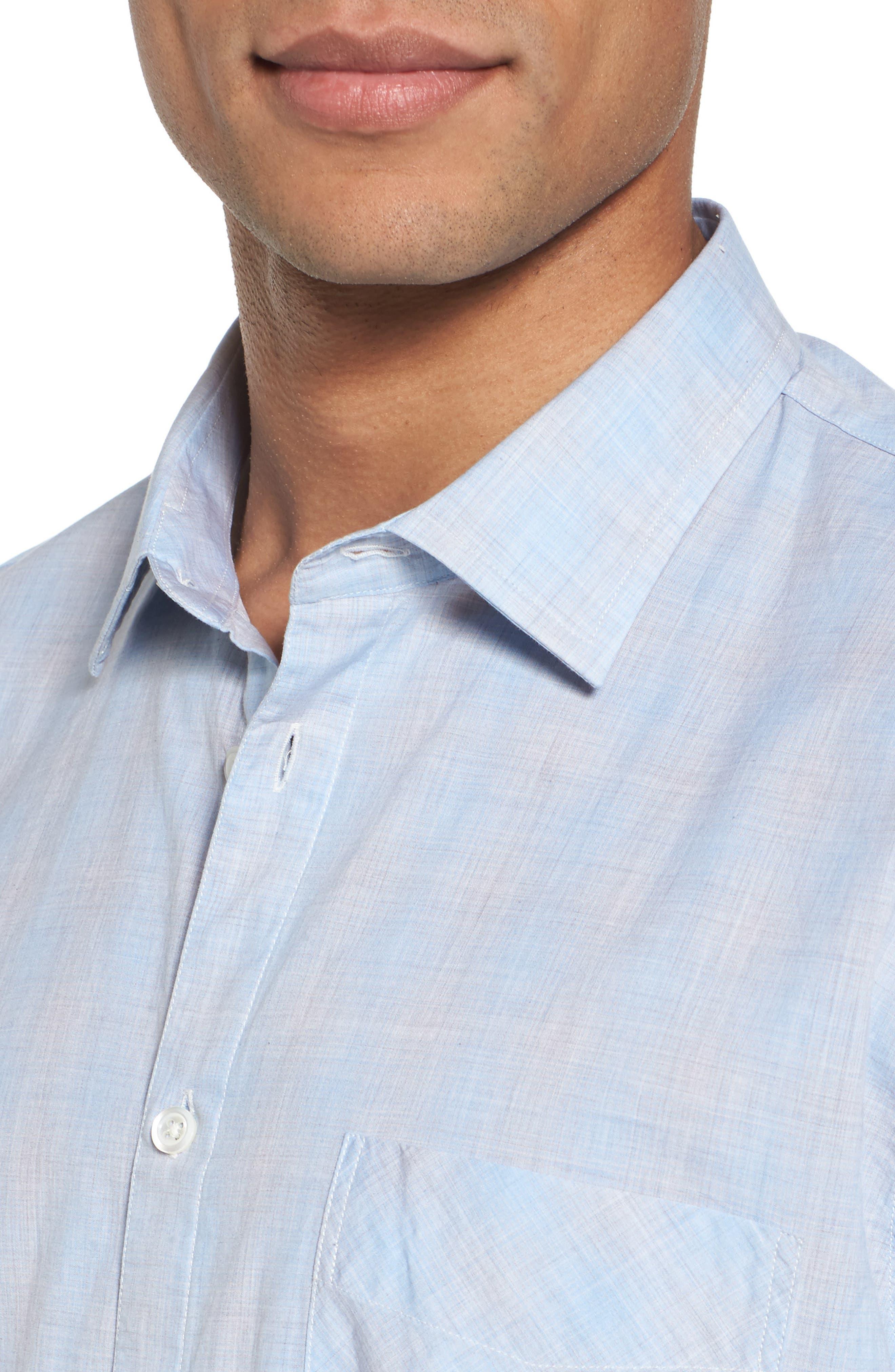 John T Slim Fit Sport Shirt,                             Alternate thumbnail 2, color,                             Light Blue
