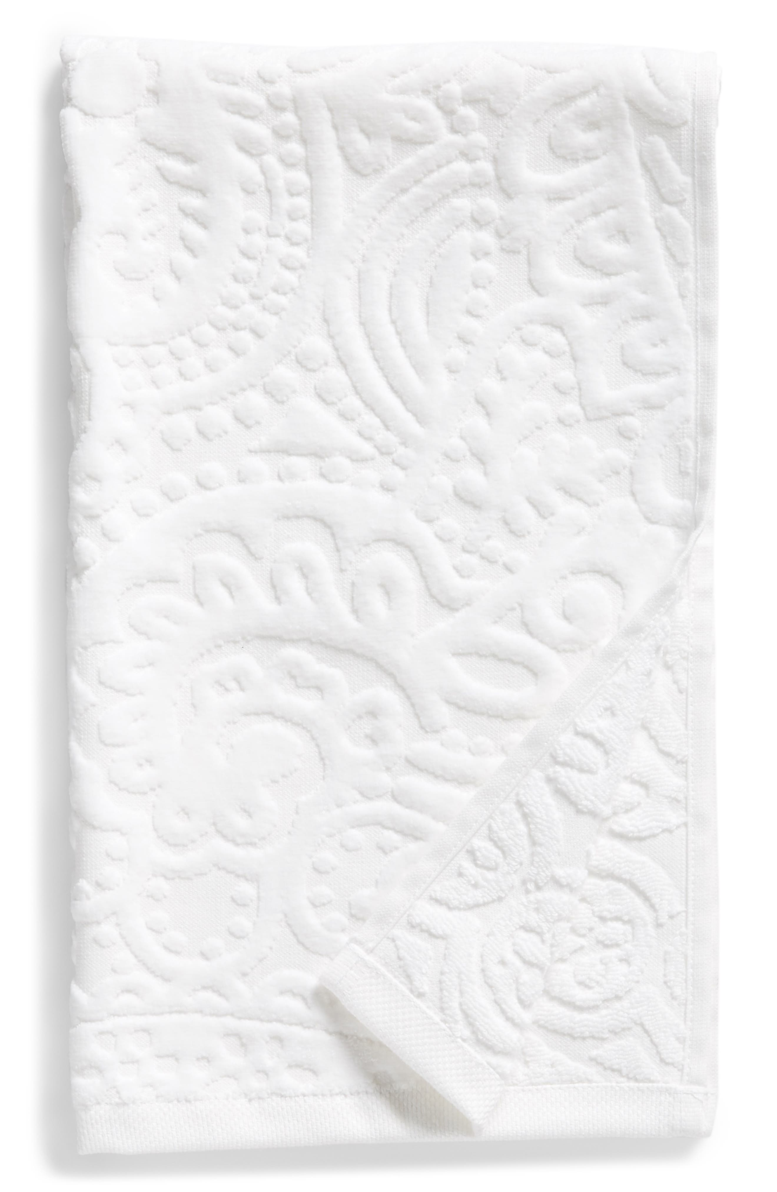 Elisa Turkish Cotton Hand Towel,                             Main thumbnail 1, color,                             White