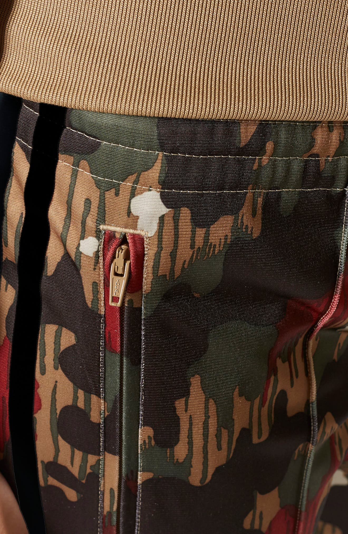 Originals Pharrell Williams Hu Hiking Pants,                             Alternate thumbnail 6, color,                             Swiss Camo