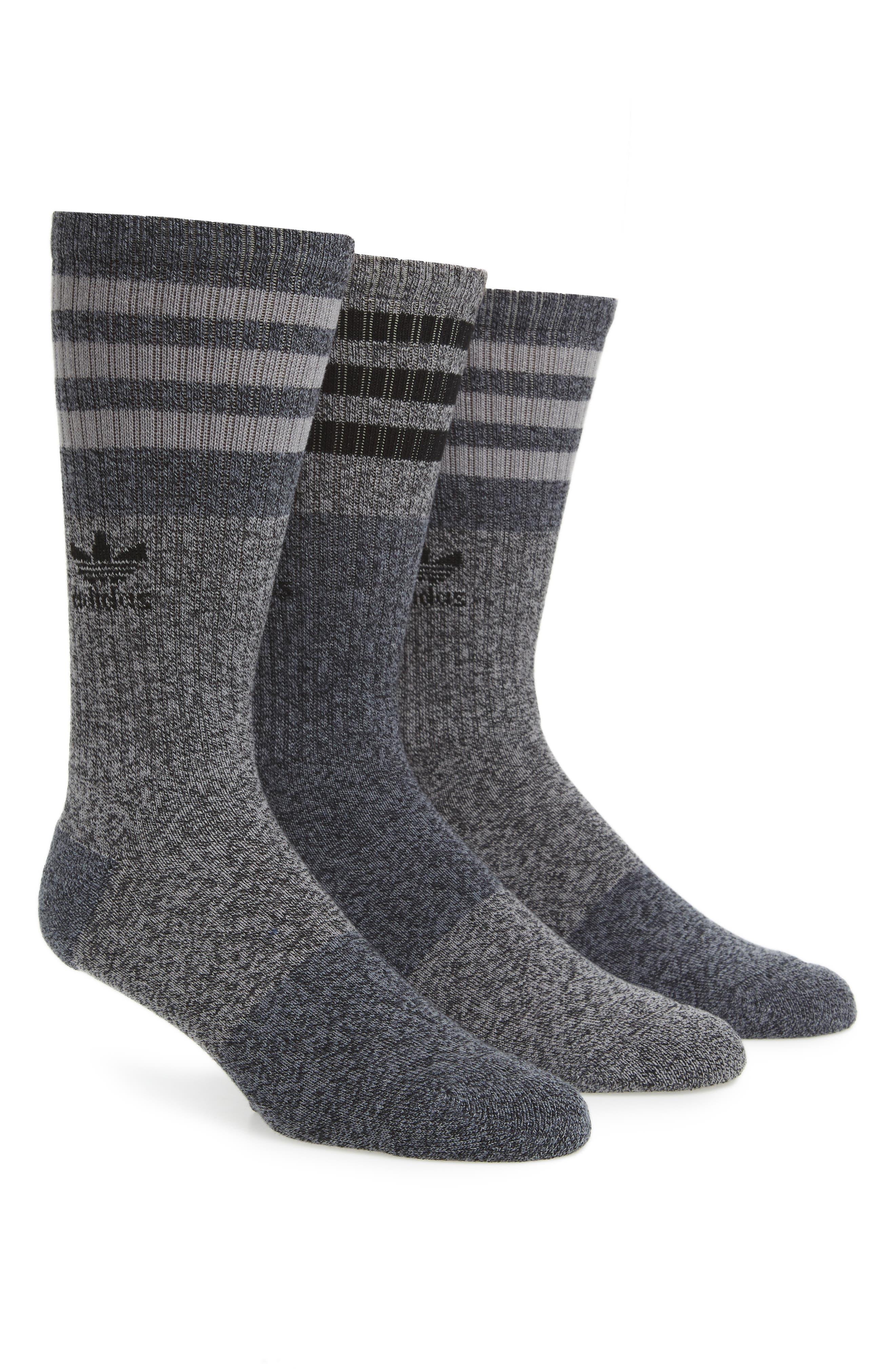 adidas Originals 3-Pack Stripe Crew Socks