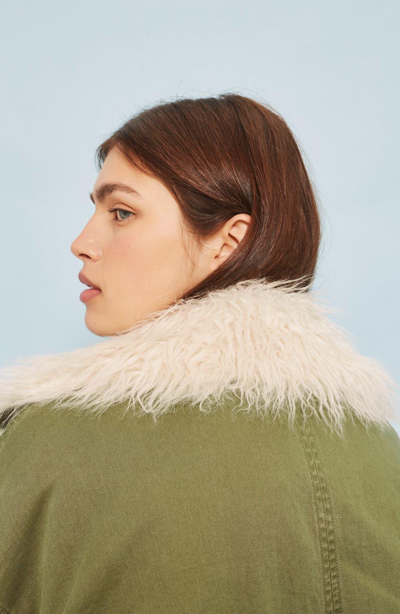Alternate Image 2  - Topshop Jake Faux Fur Lined Jacket