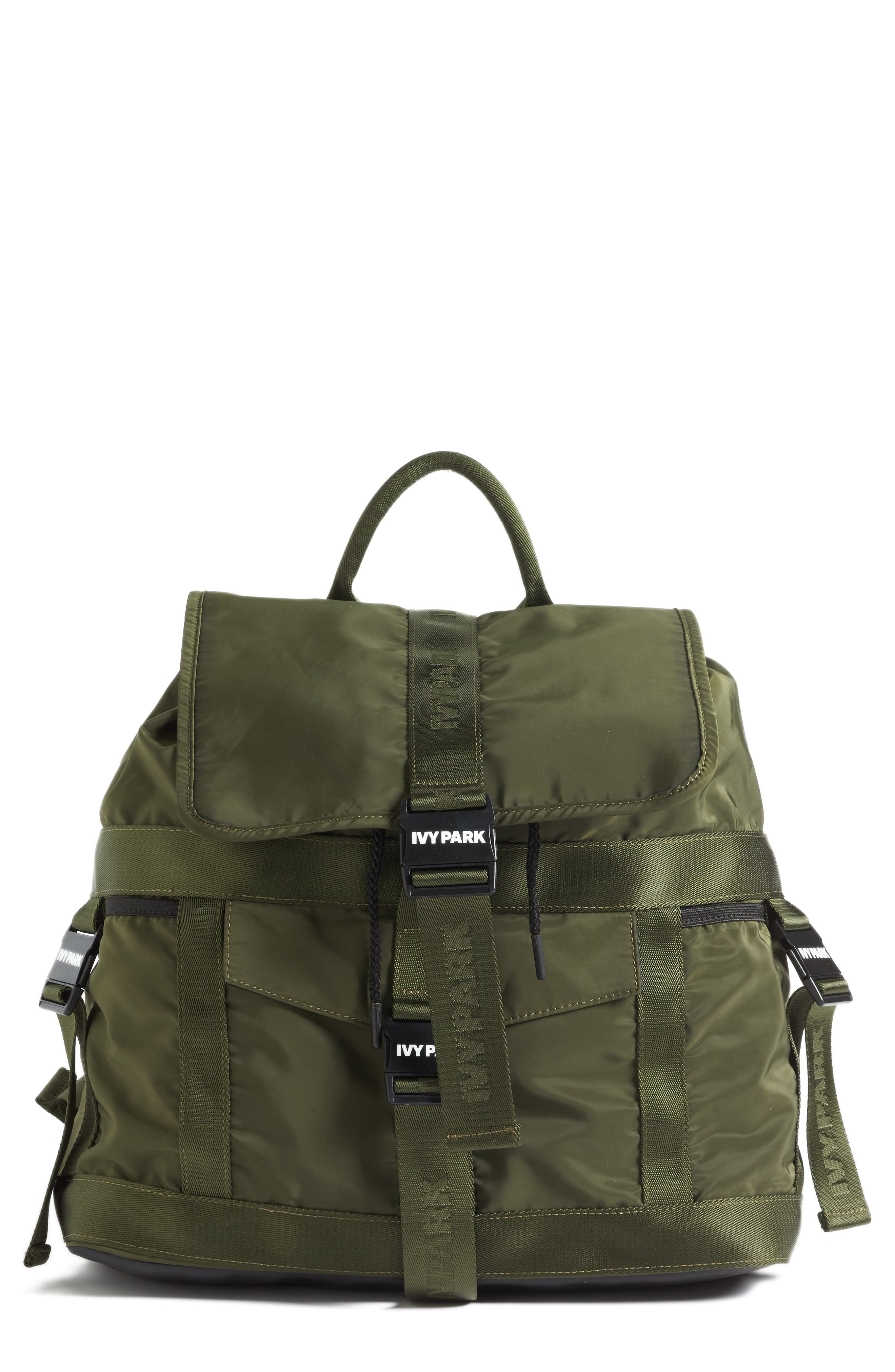 Parachute Strap Backpack,                         Main,                         color, Pine
