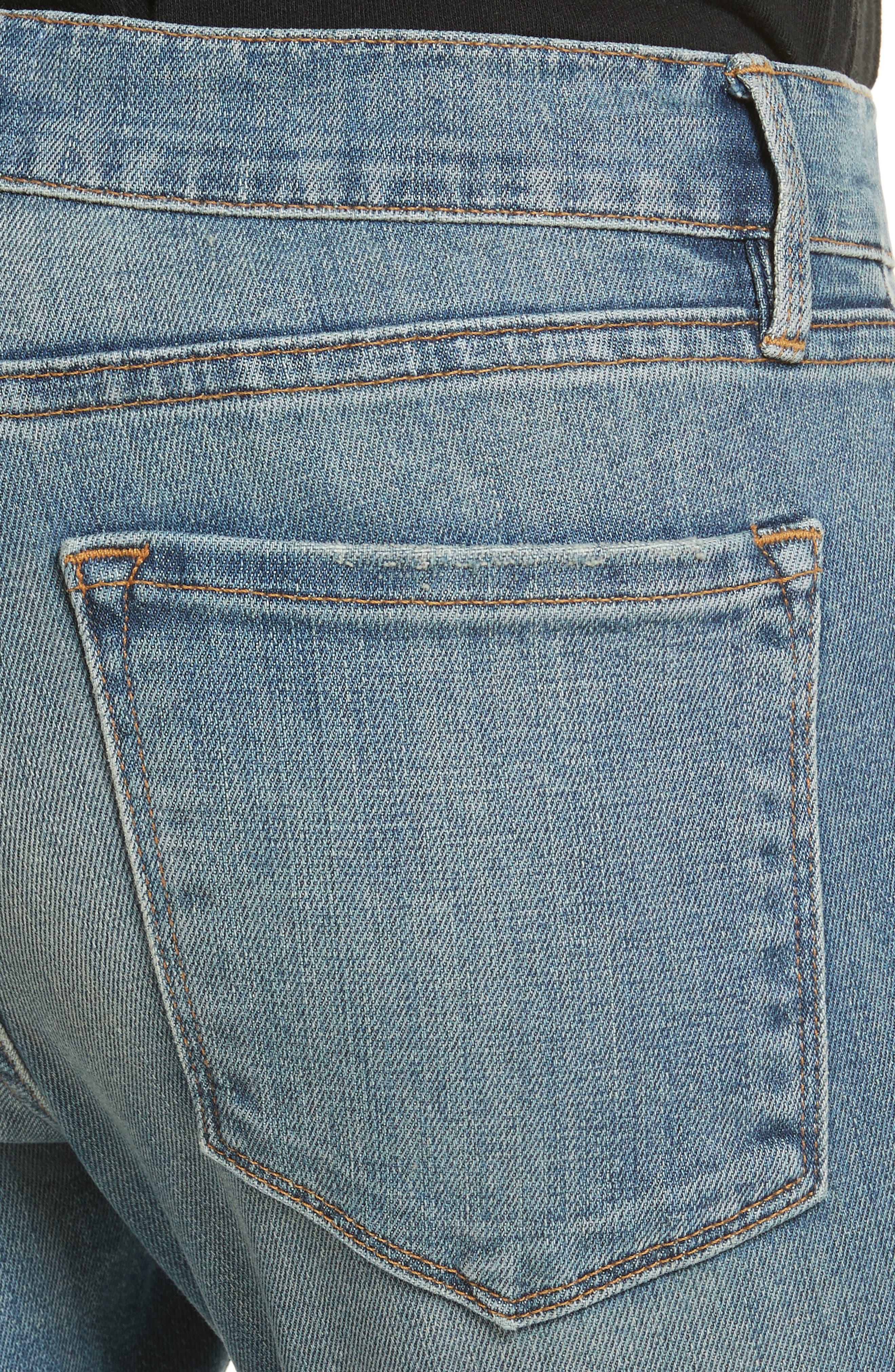 Le Garçon Crop Boyfriend Jeans,                             Alternate thumbnail 4, color,                             Kaufman