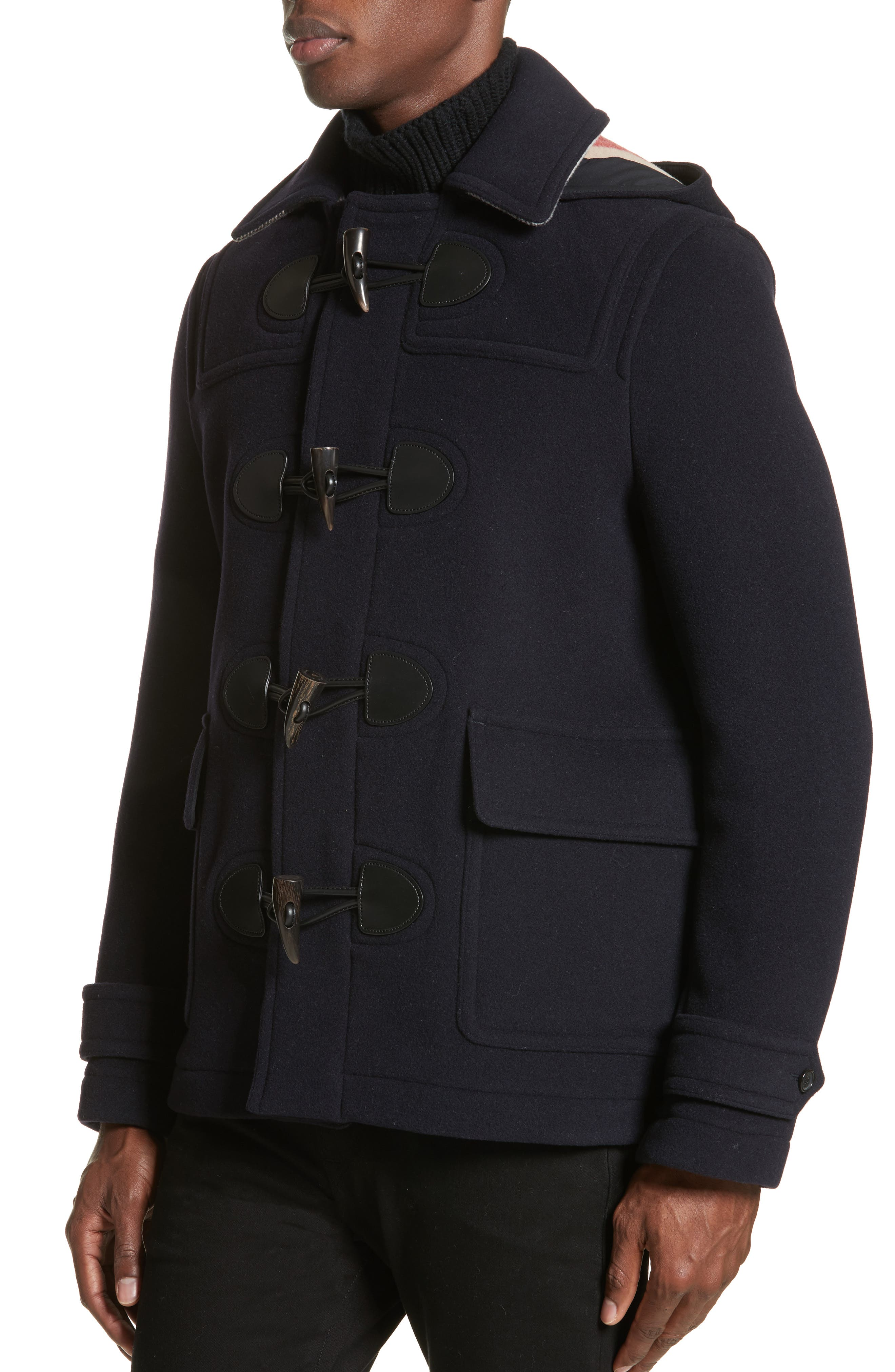 Alternate Image 4  - Burberry Plymouth Wool Blend Duffle Jacket