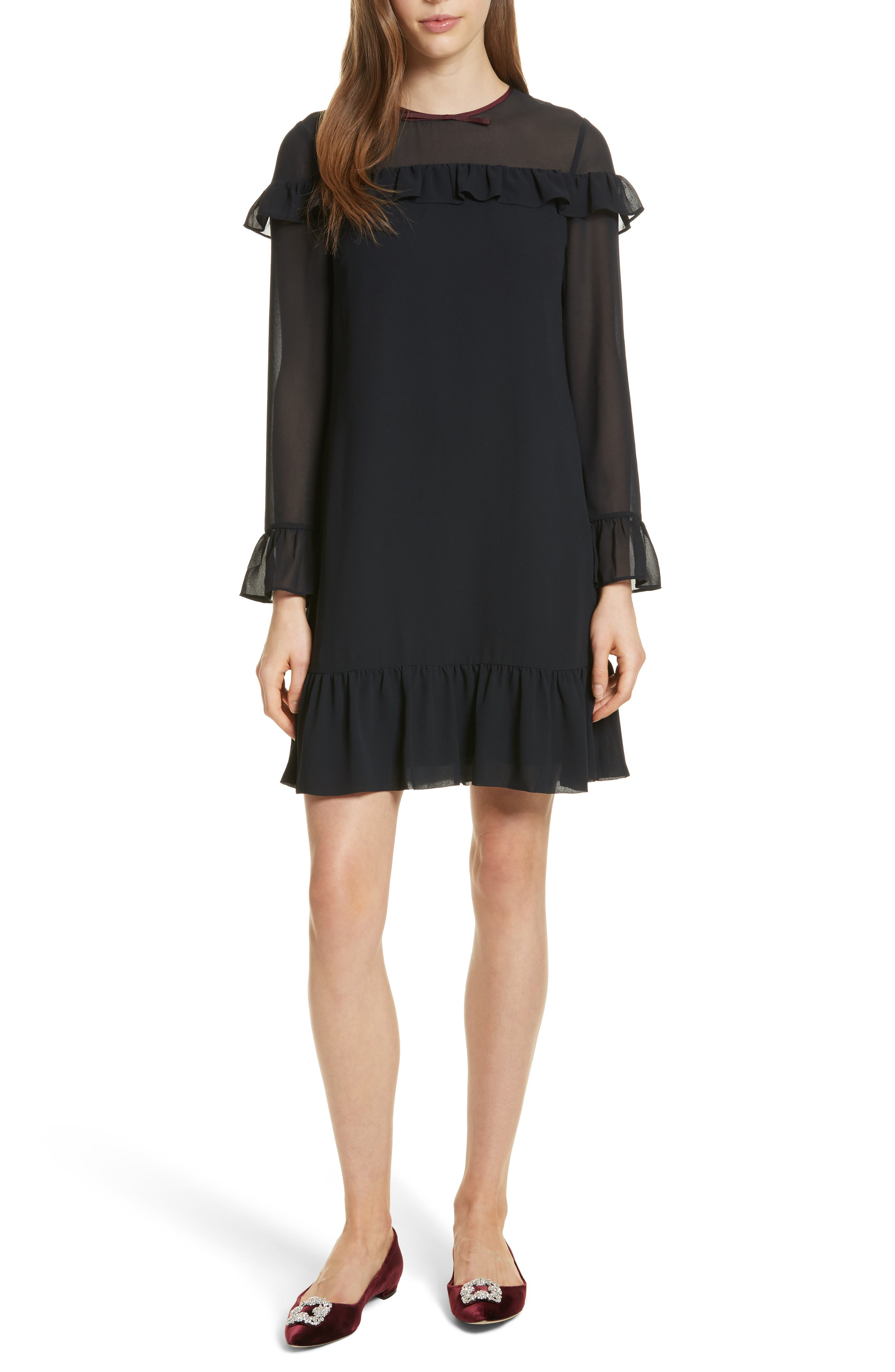 Alternate Image 1 Selected - Ted Baker London Ruffle Trim Shift Dress