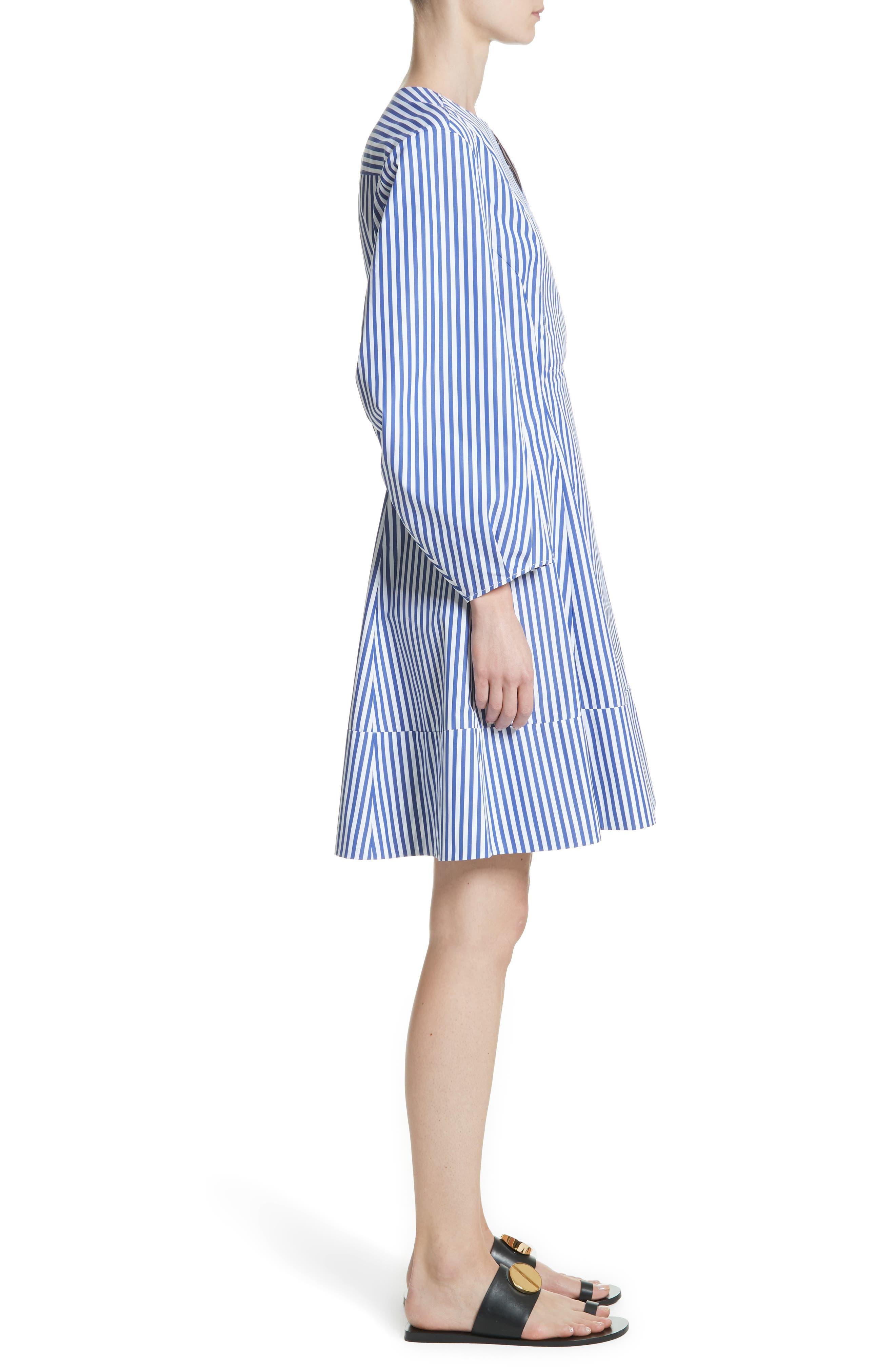 Alternate Image 3  - KHAITE Vanessa Stripe Poplin Minidress