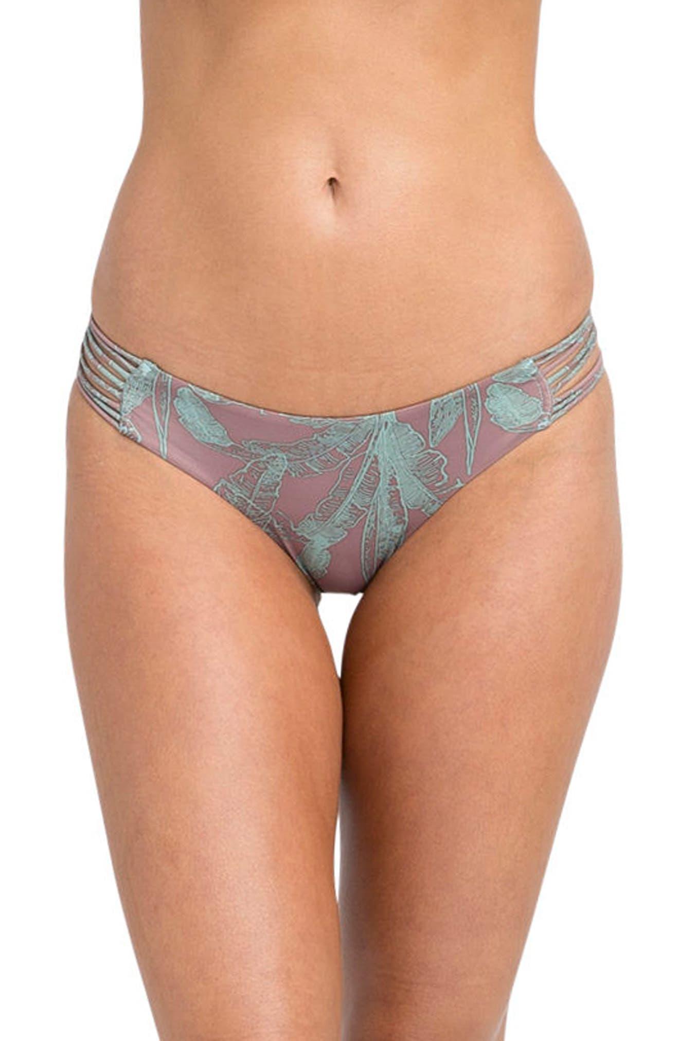 Main Image - RVCA Palmer Reversible Cheeky Bikini Bottoms
