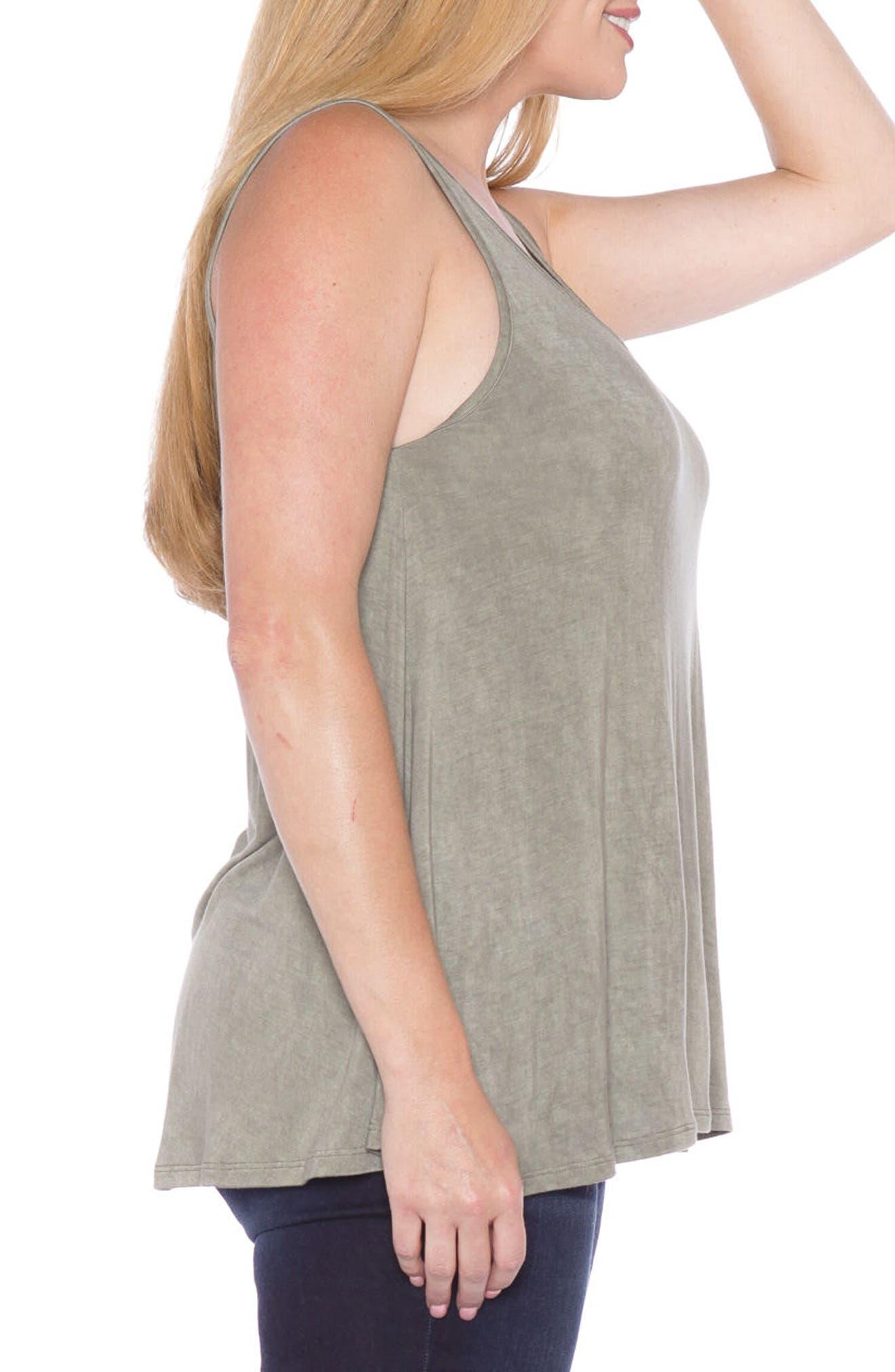 Alternate Image 3  - SLINK Jeans Scoop Neck Tank Top (Plus Size)