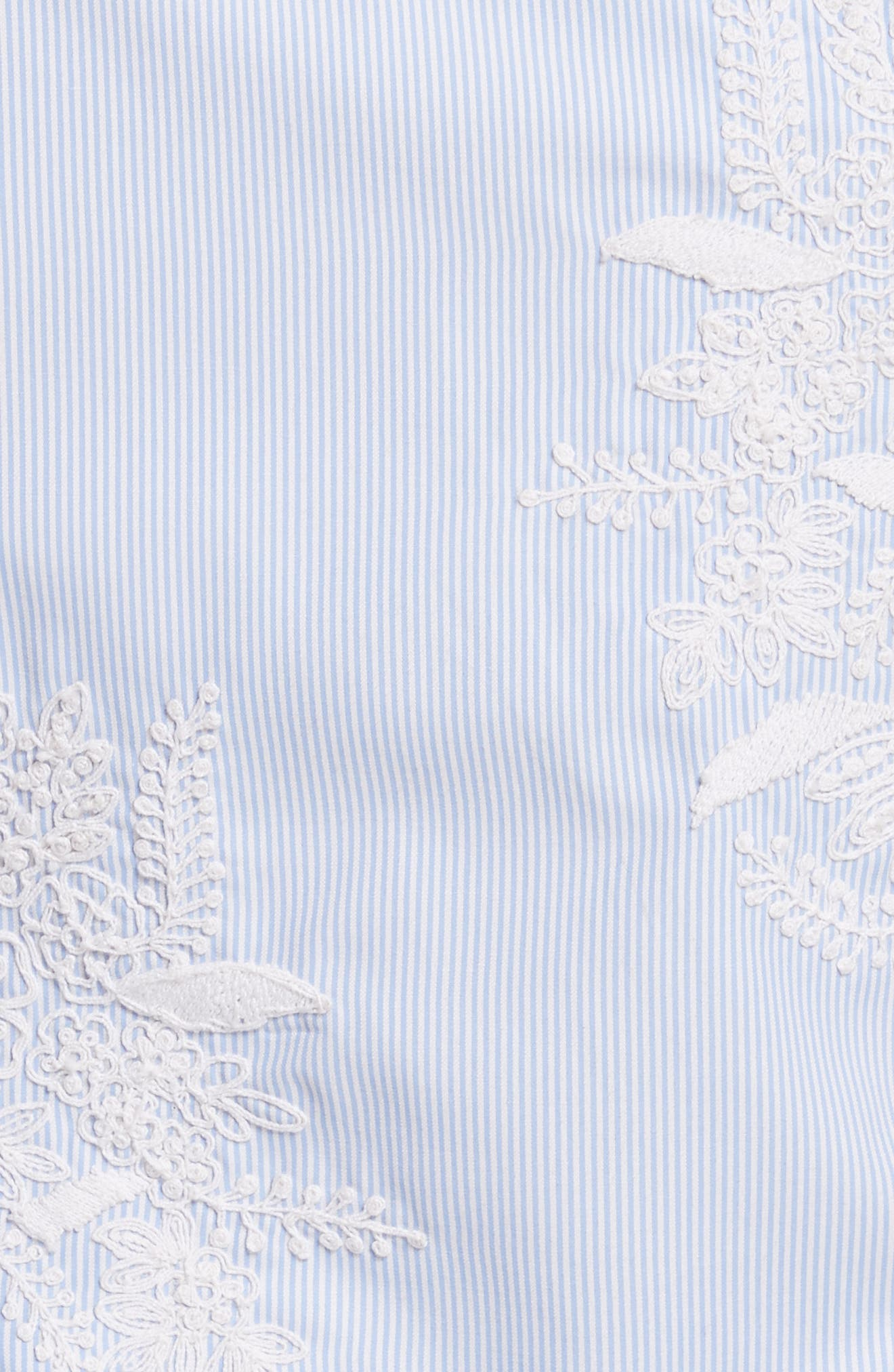 Alternate Image 5  - Alice + Olivia Toro Embroidered Tie Sleeve Blouse