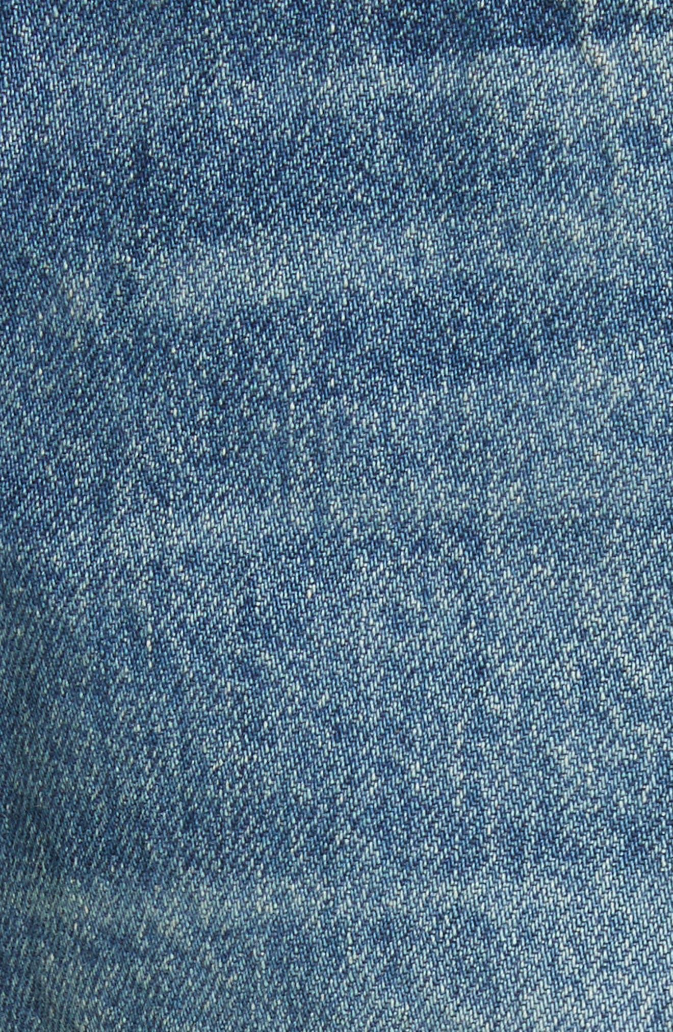 W4 Carter Ripped High Waist Denim Shorts,                             Alternate thumbnail 5, color,                             Elmar