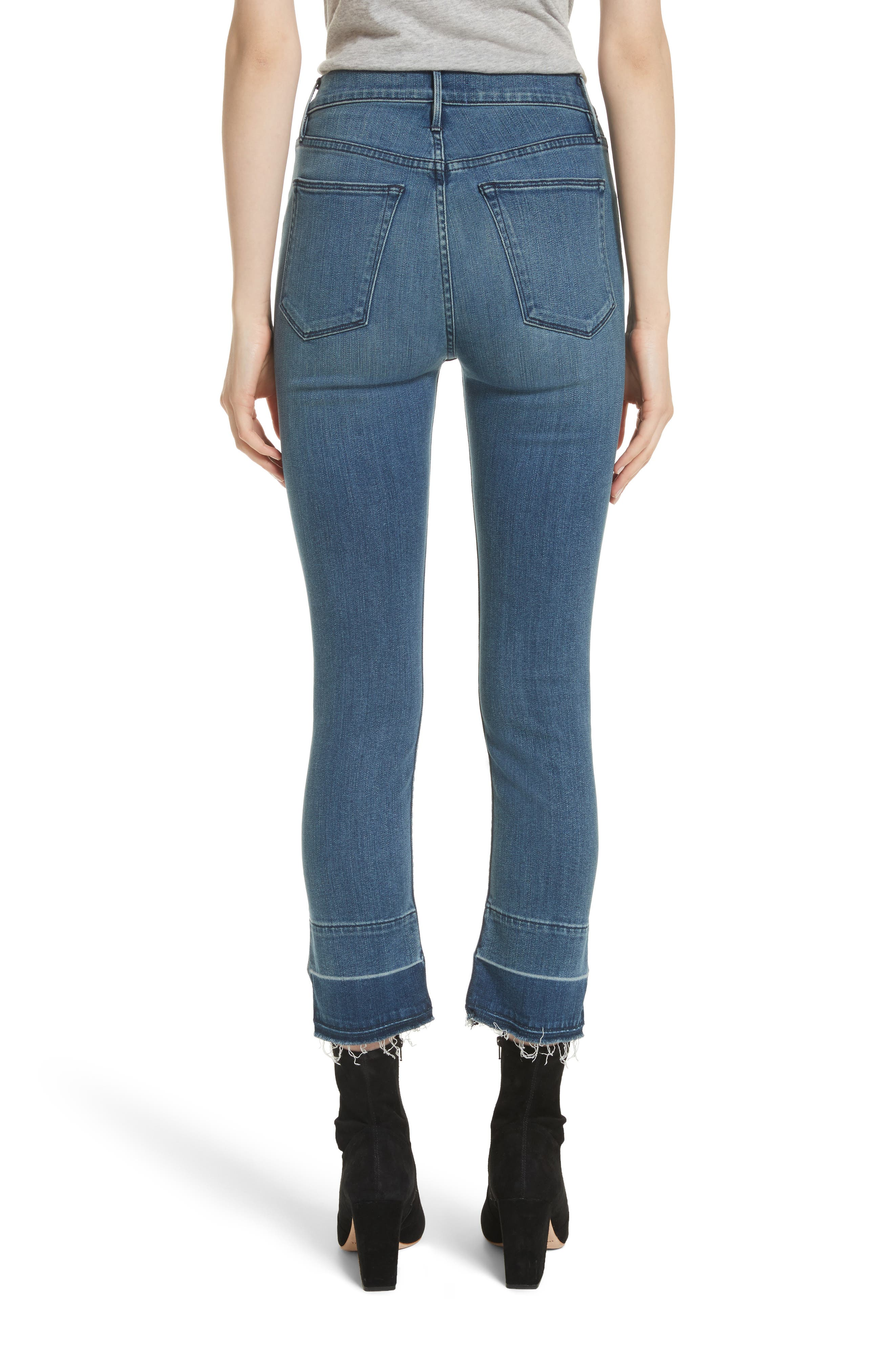 W4 Abigail Released Split Hem Ankle Skinny Jeans,                             Alternate thumbnail 2, color,                             Ady