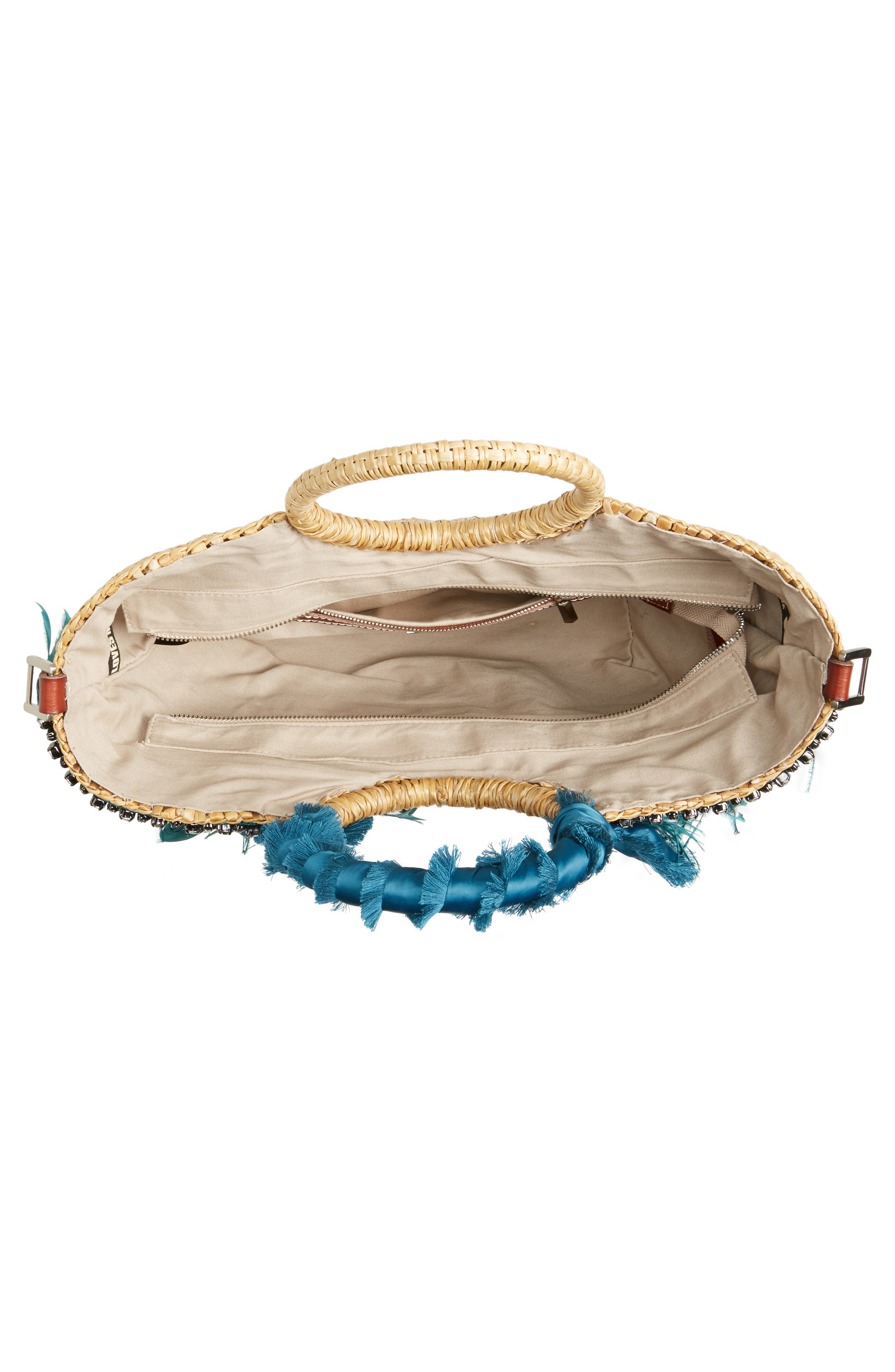 Alternate Image 4  - Sam Edelman Eliya Feather Straw Tote
