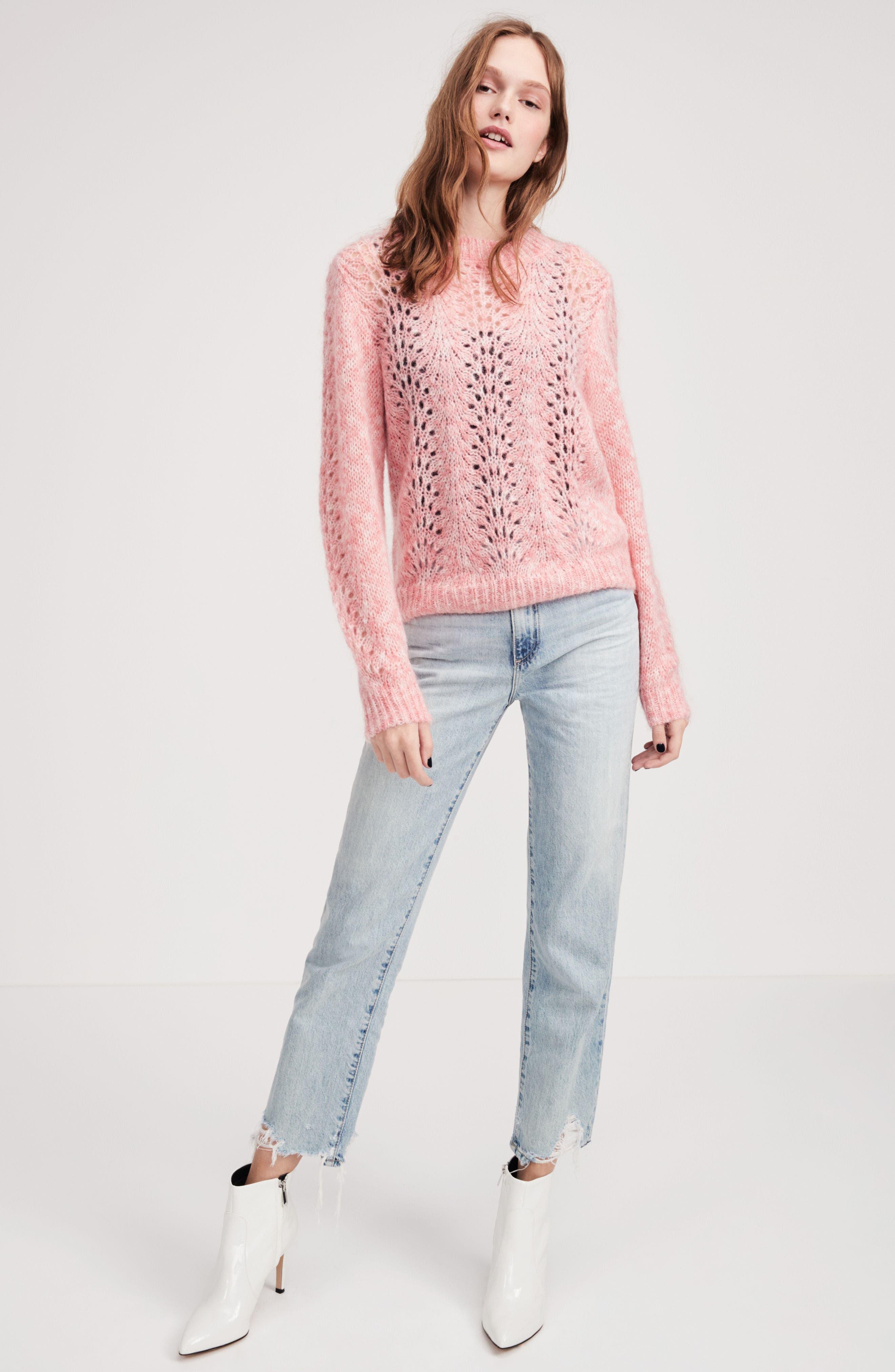 The Phoebe High Rise Straight Leg Jeans,                             Alternate thumbnail 2, color,