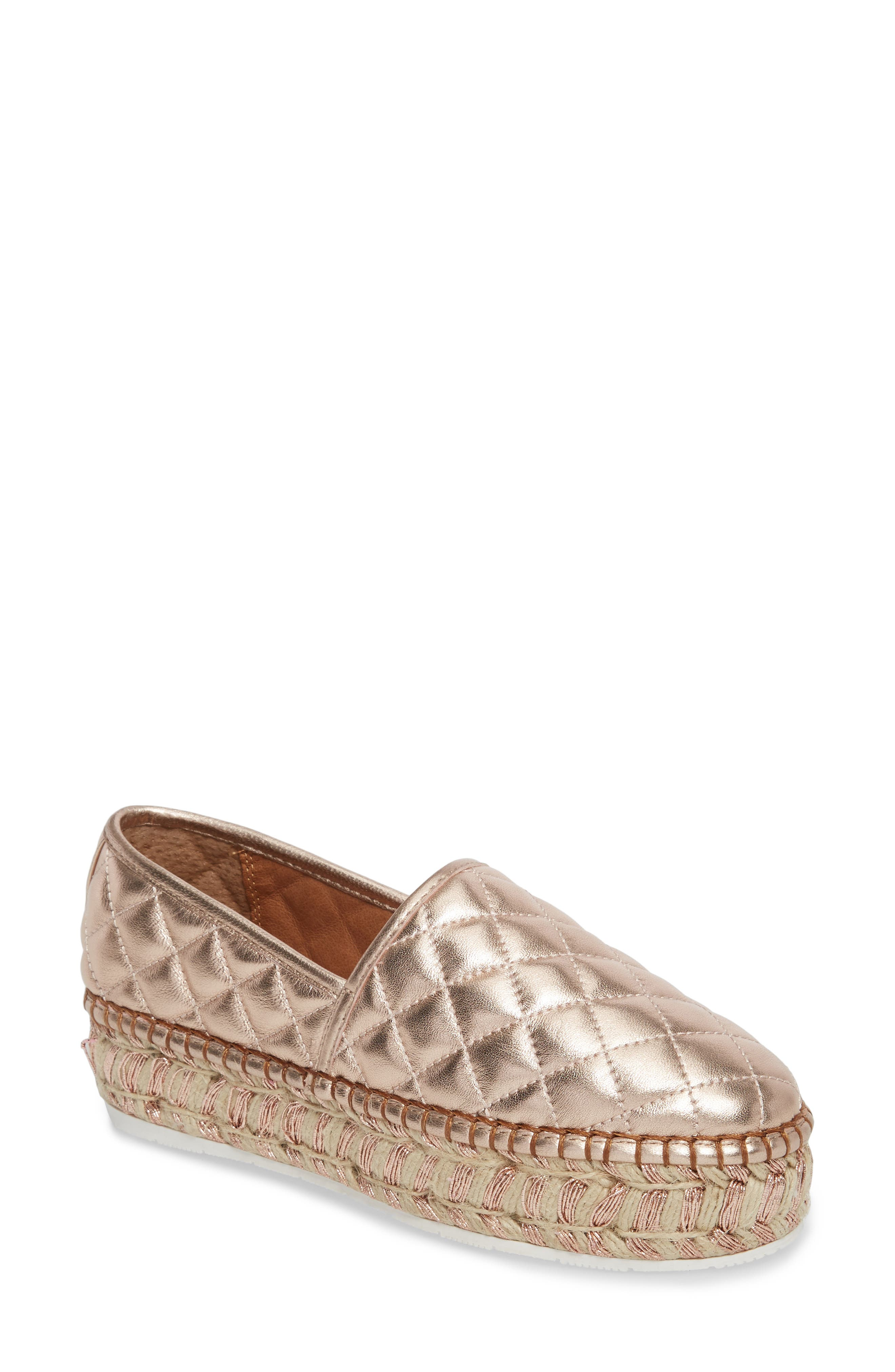Main Image - JSlides Renata Quilted Slip-On Platform Flat (Women)
