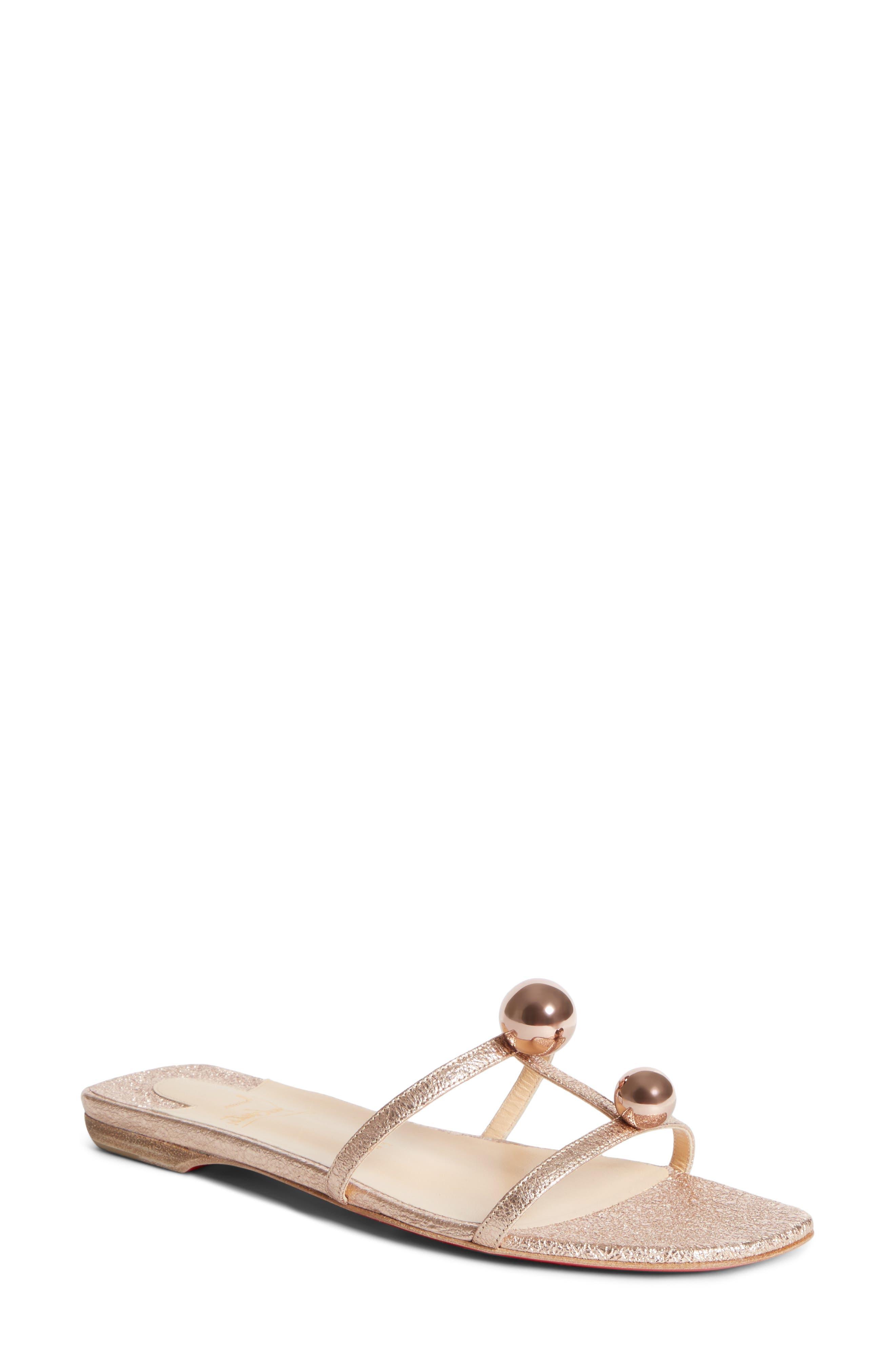 Christian Louboutin Atonetta Ornament Slide Sandal (Women)