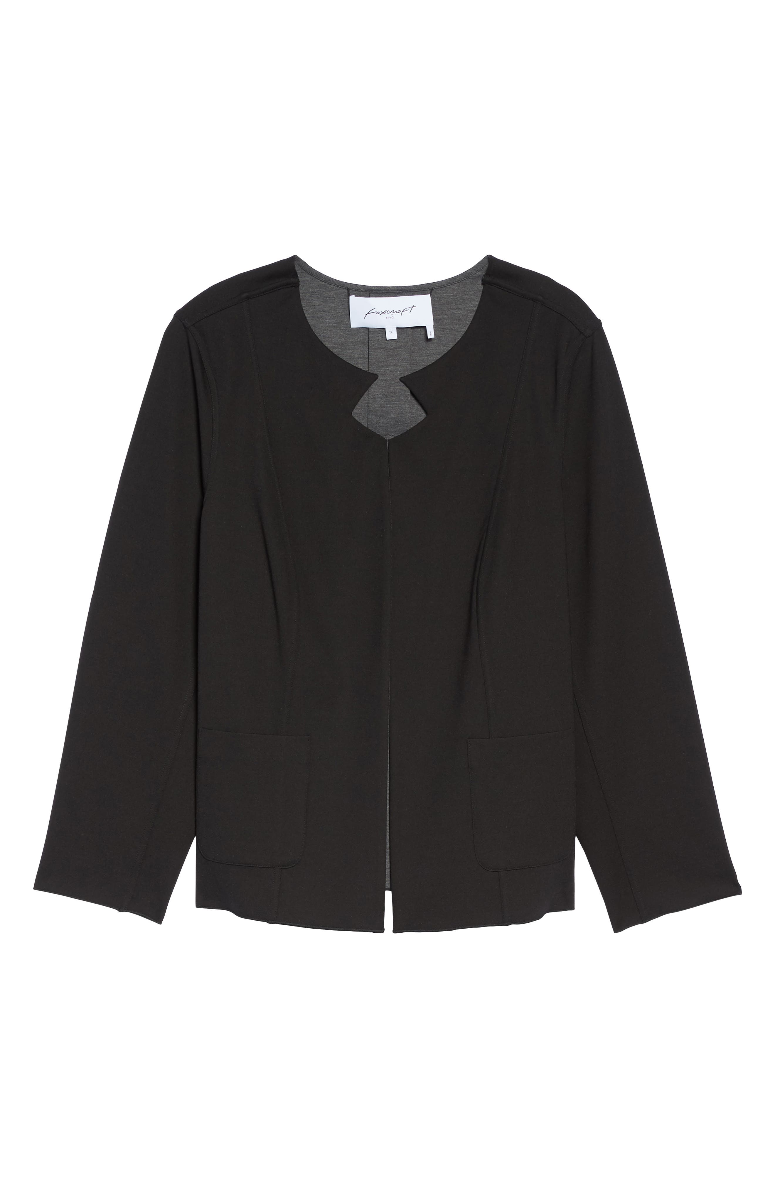 Tilly Reversible Ponte Jacket,                             Alternate thumbnail 7, color,                             Charcoal