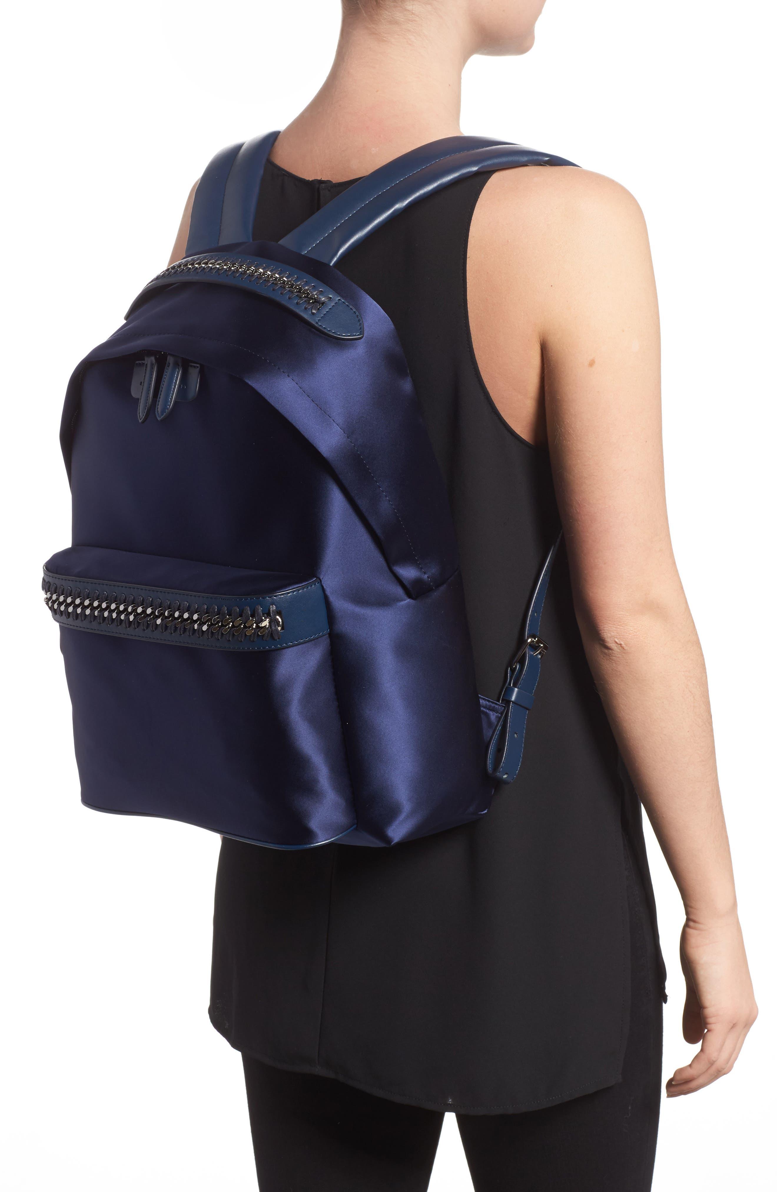 Alternate Image 2  - Stella McCartney Logo Embossed Satin Backpack