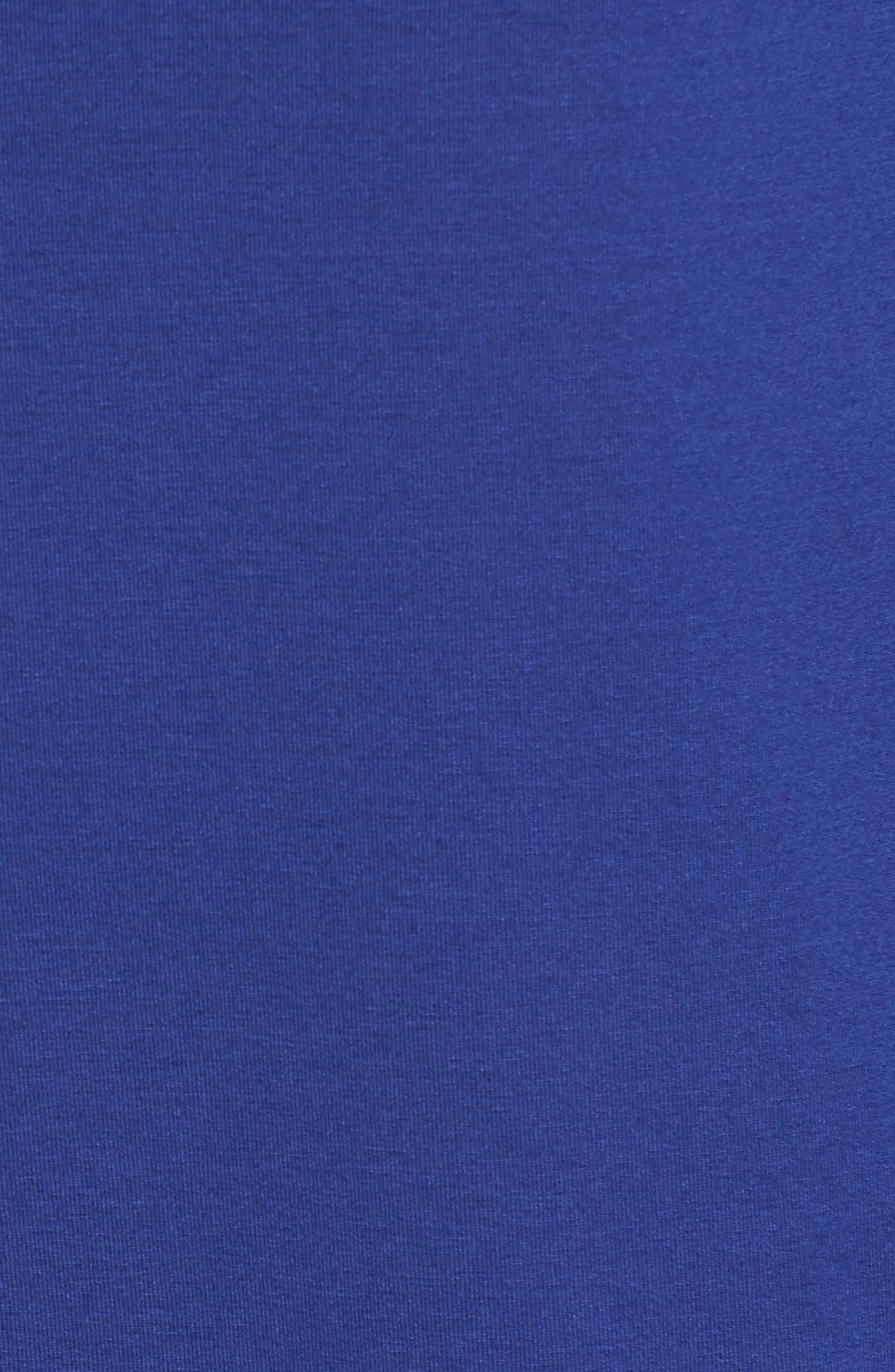 Jersey Bateau Neck Tunic,                             Alternate thumbnail 5, color,                             Persian Blue