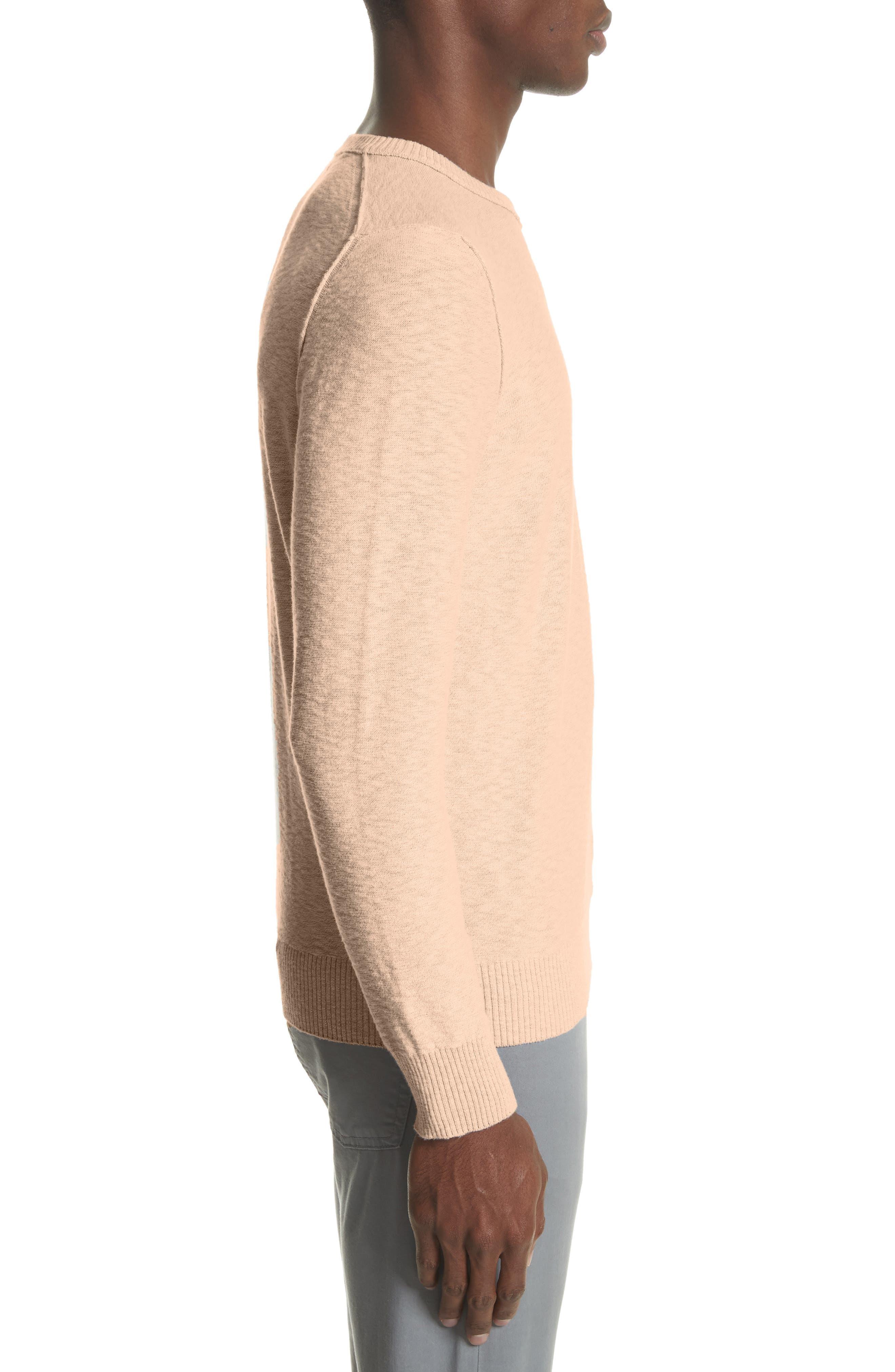 Garment Dyed Cotton Blend Sweatshirt,                             Alternate thumbnail 3, color,                             Coral