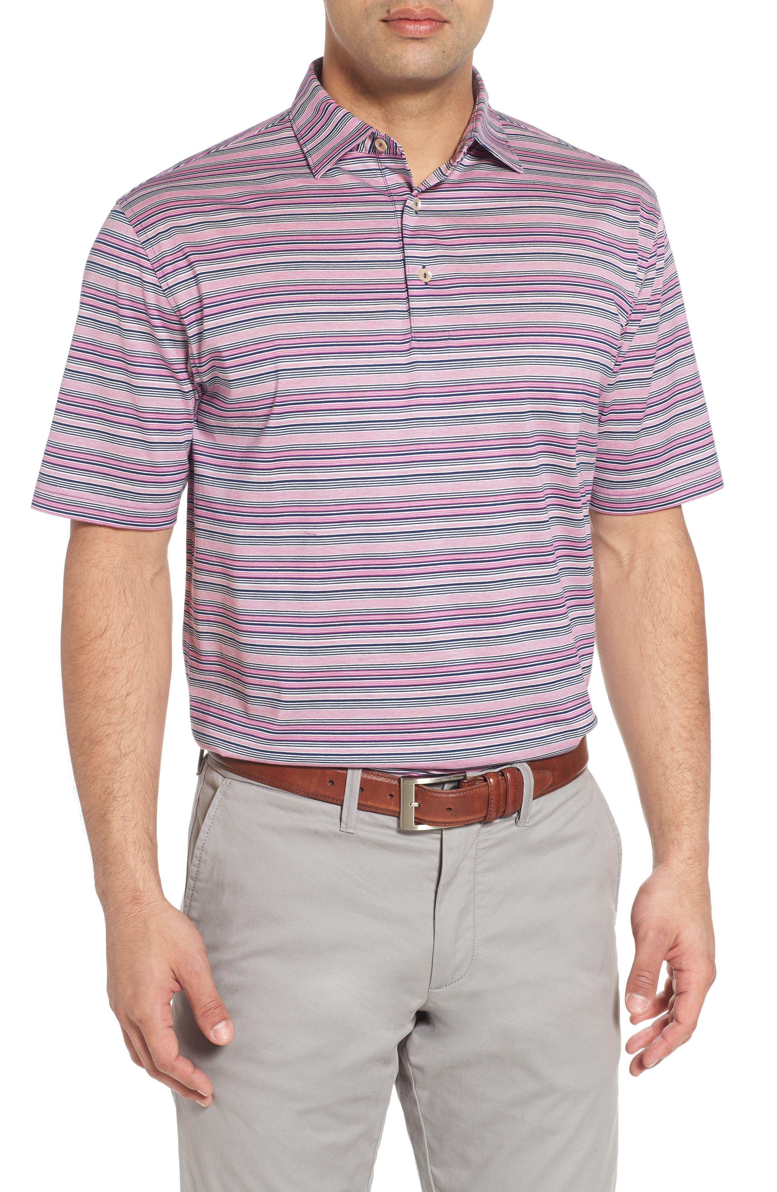 Sean Hanover Stripe Polo,                         Main,                         color, Barrier Blue