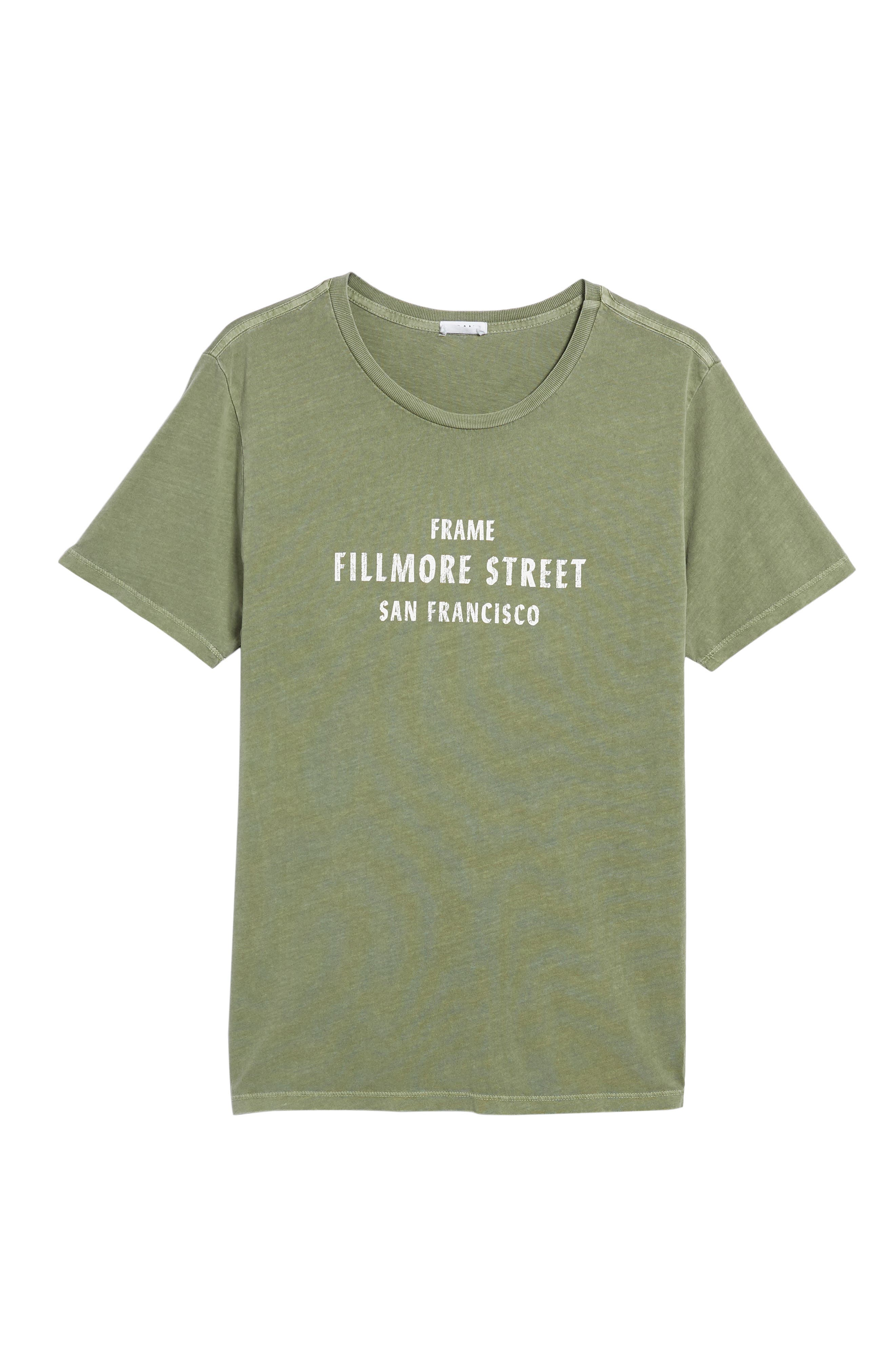 Fillmore Street Vintage Graphic T-Shirt,                             Alternate thumbnail 6, color,                             Army Green