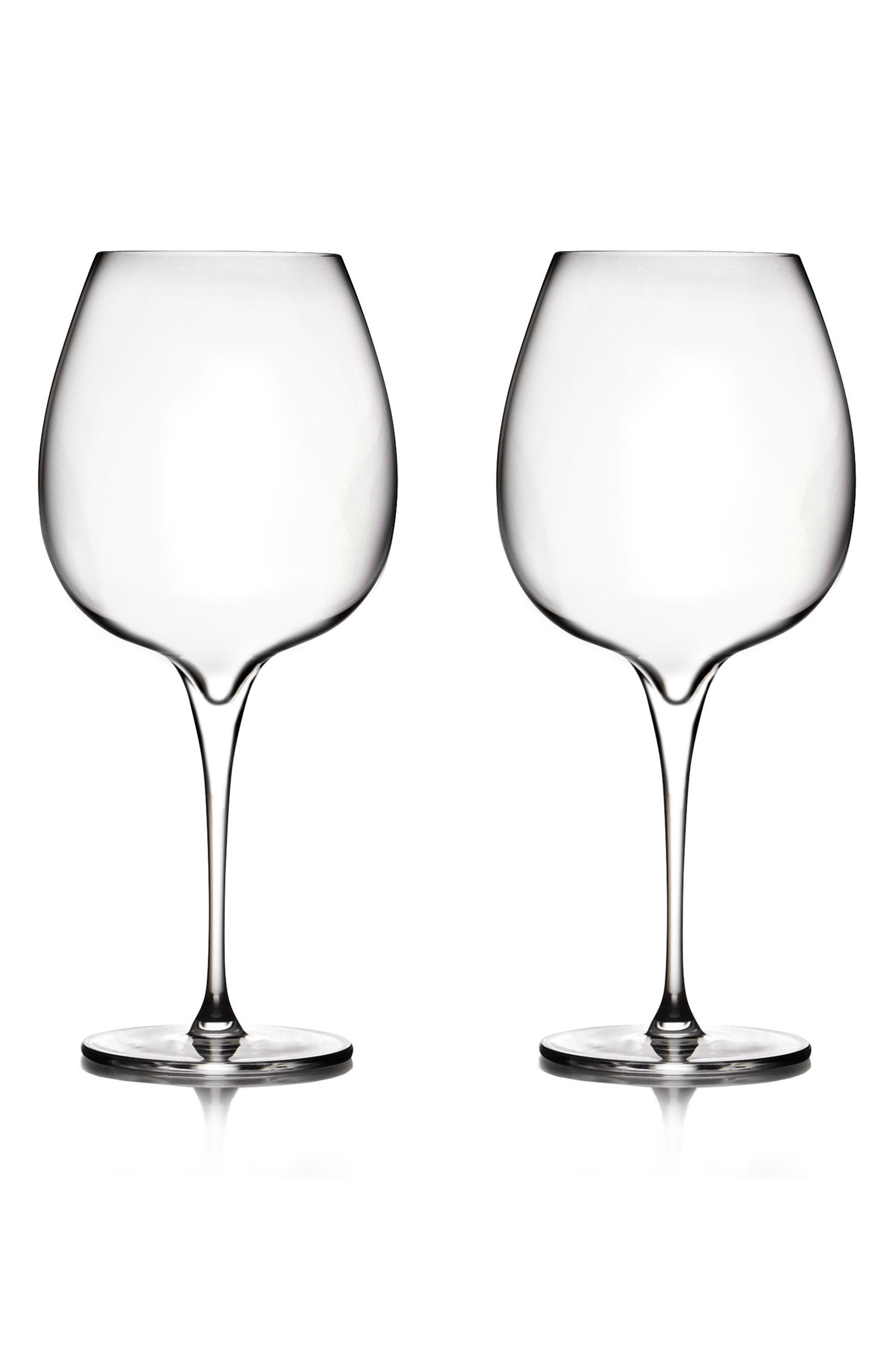 Vie Set of 2 Pinot Noir Glasses,                             Main thumbnail 1, color,                             Clear